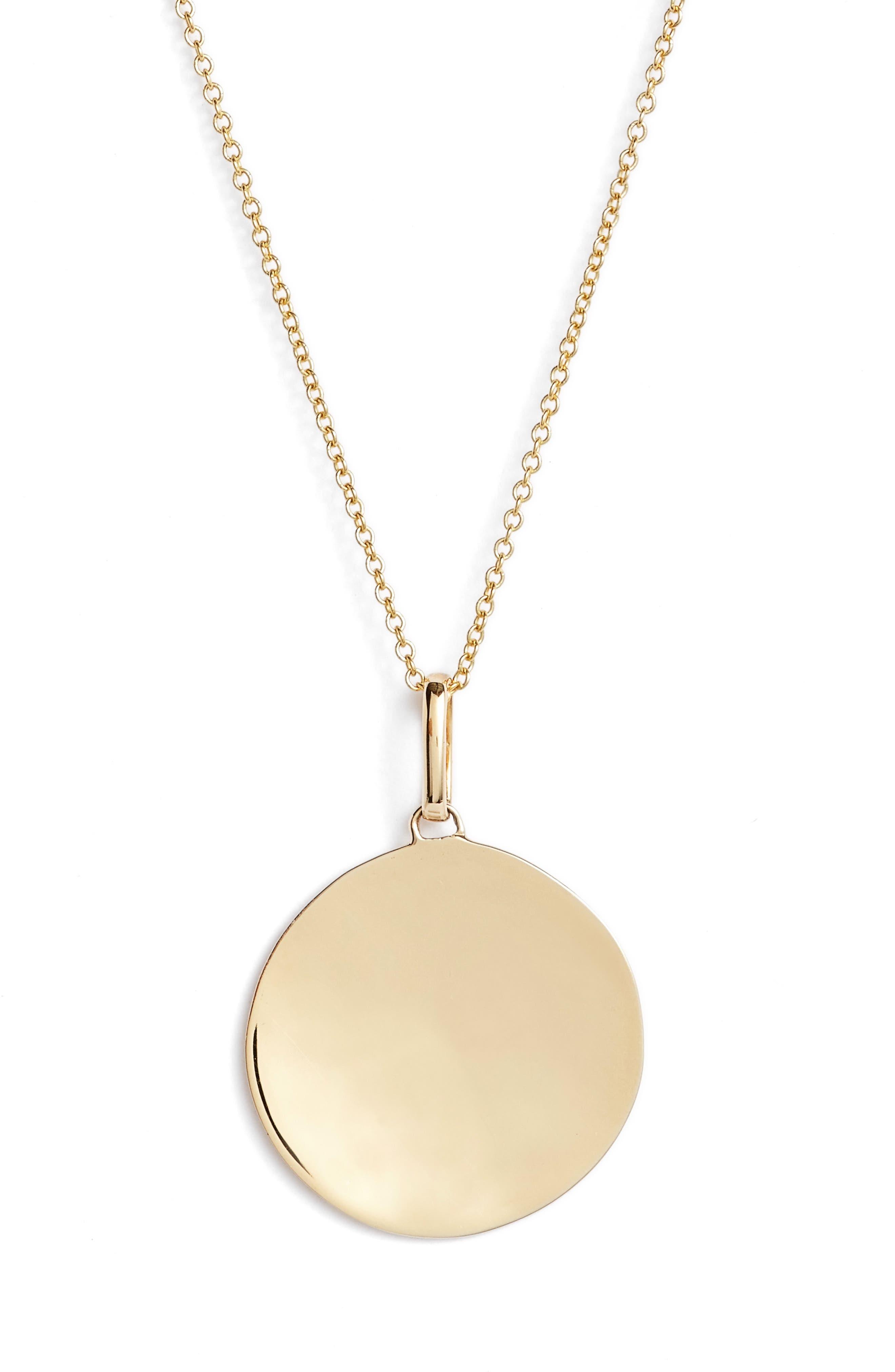 Concave Large Pendant Necklace,                             Alternate thumbnail 2, color,                             710