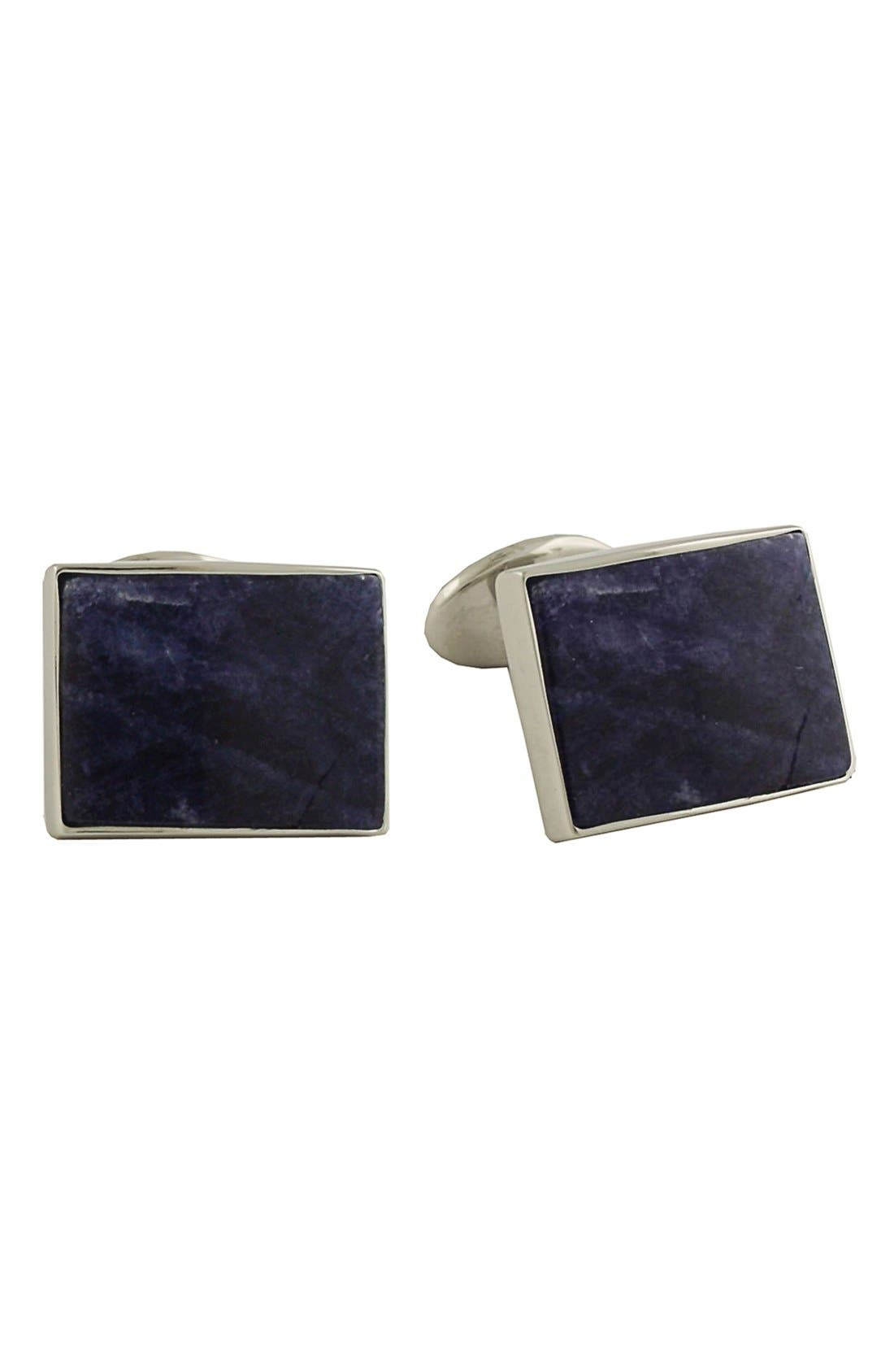 Sterling Silver Cuff Links,                         Main,                         color, SODALITE