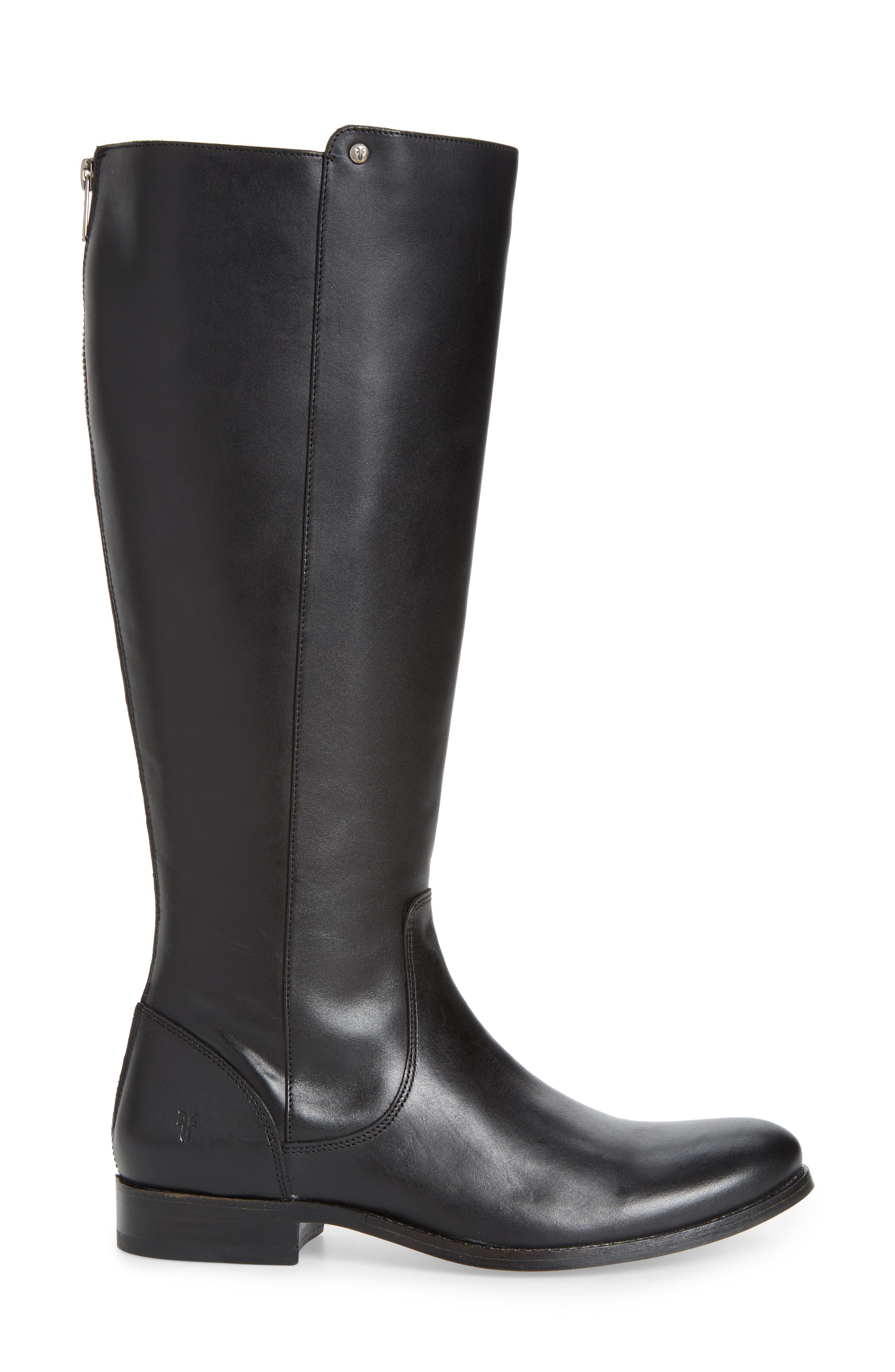 Melissa Stud Knee High Boot,                             Alternate thumbnail 3, color,                             015