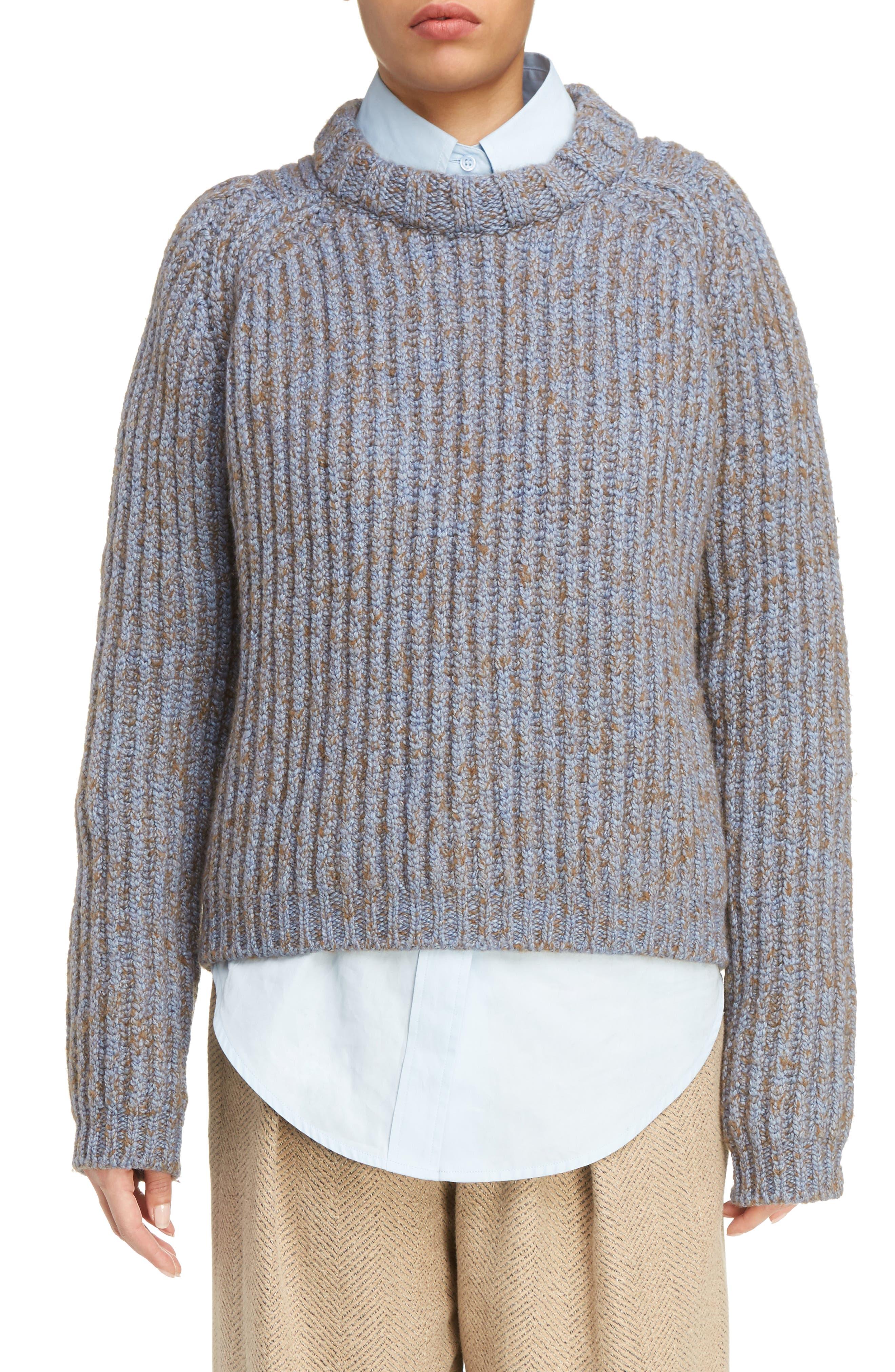 Sandy Mouline Cable Knit Sweater,                             Main thumbnail 1, color,                             400