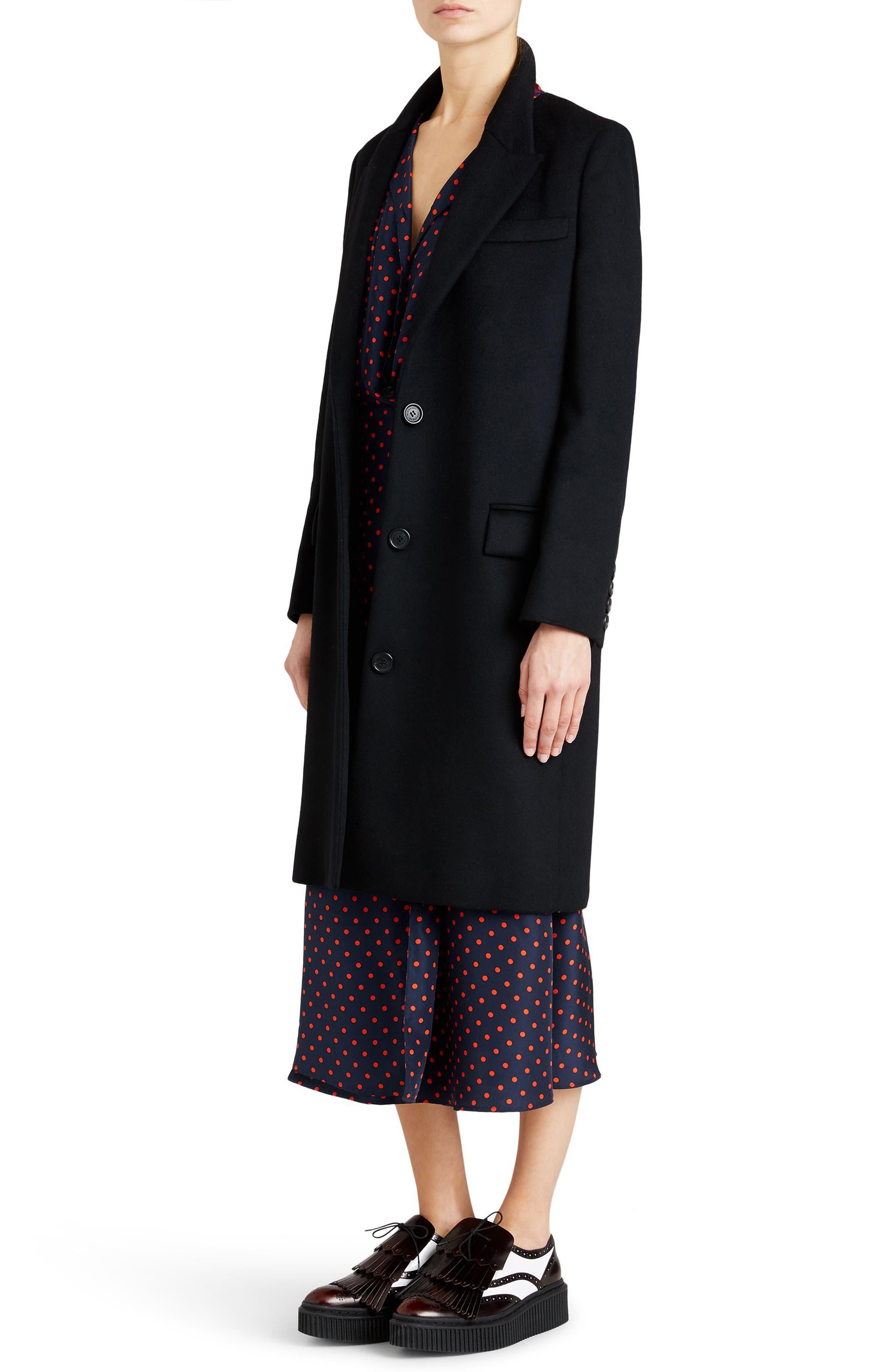 Fellhurst Wool & Cashmere Coat,                             Alternate thumbnail 3, color,                             001