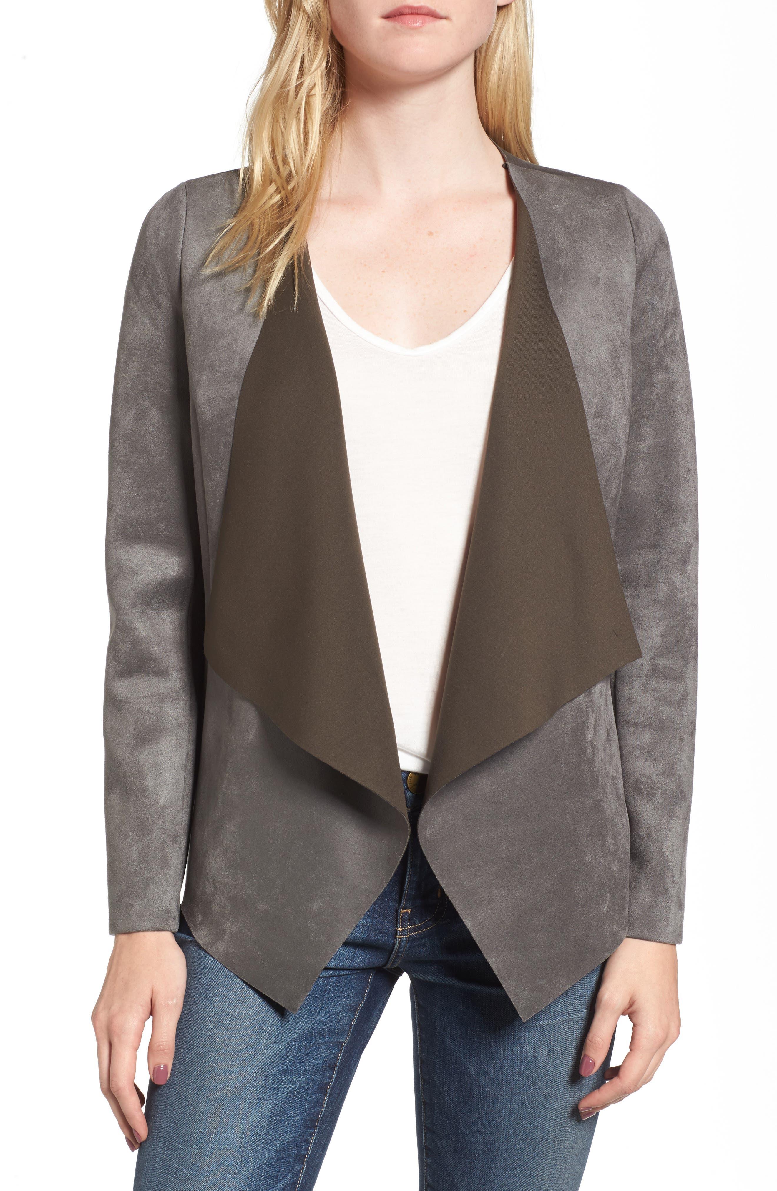 Faux Suede Jacket,                         Main,                         color, 030