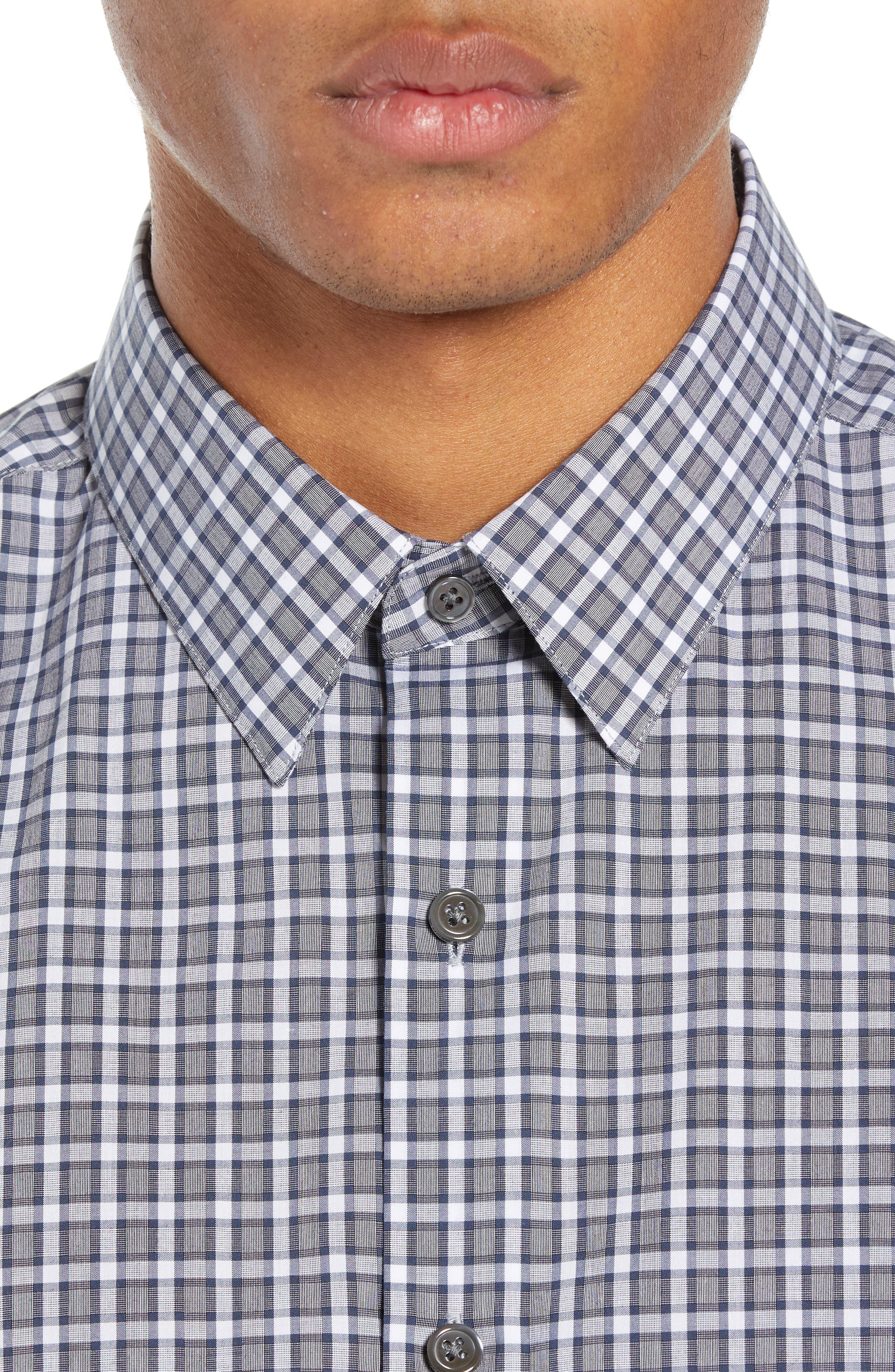 Sylvain Regular Fit Check Sport Shirt,                             Alternate thumbnail 2, color,                             NAVY MULTI