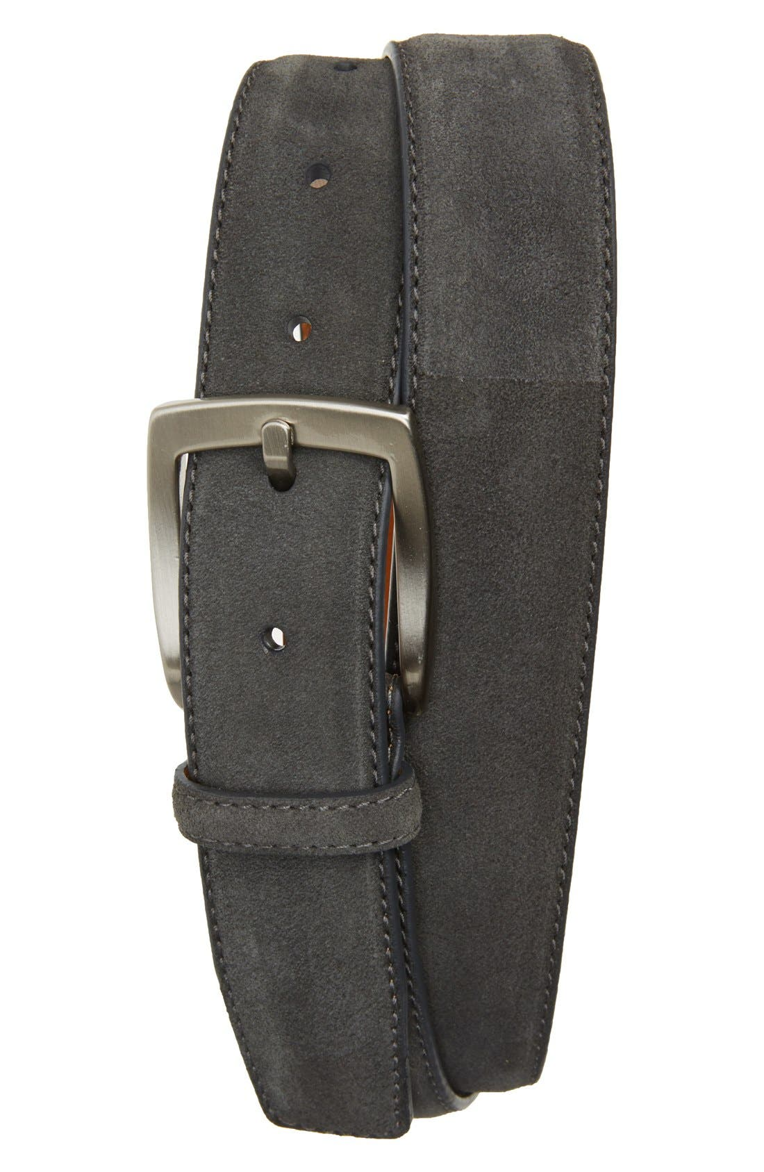 Crosta Suede Belt,                             Main thumbnail 1, color,                             020