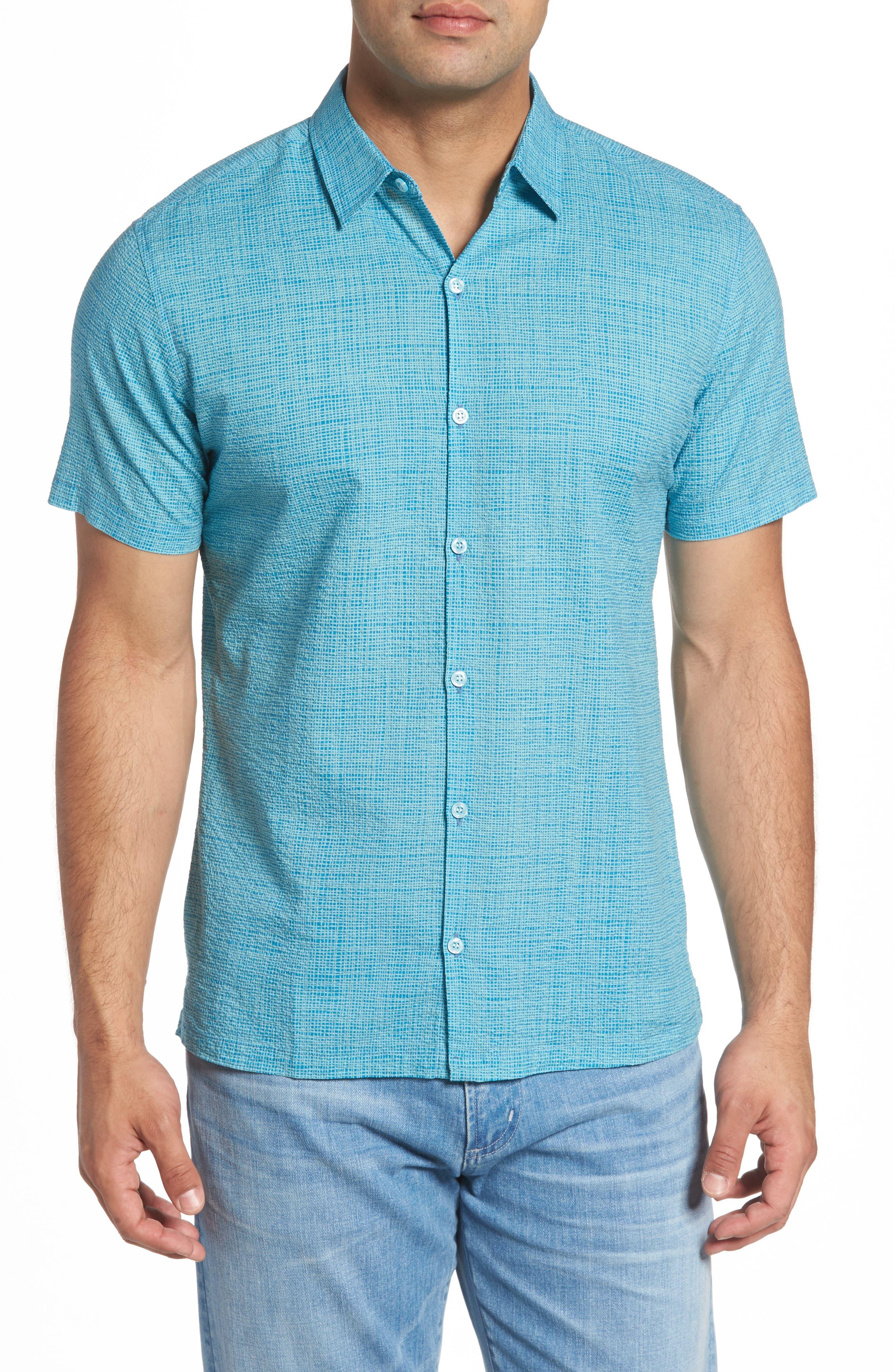 Net Worth Slim Fit Camp Shirt,                         Main,                         color, 400