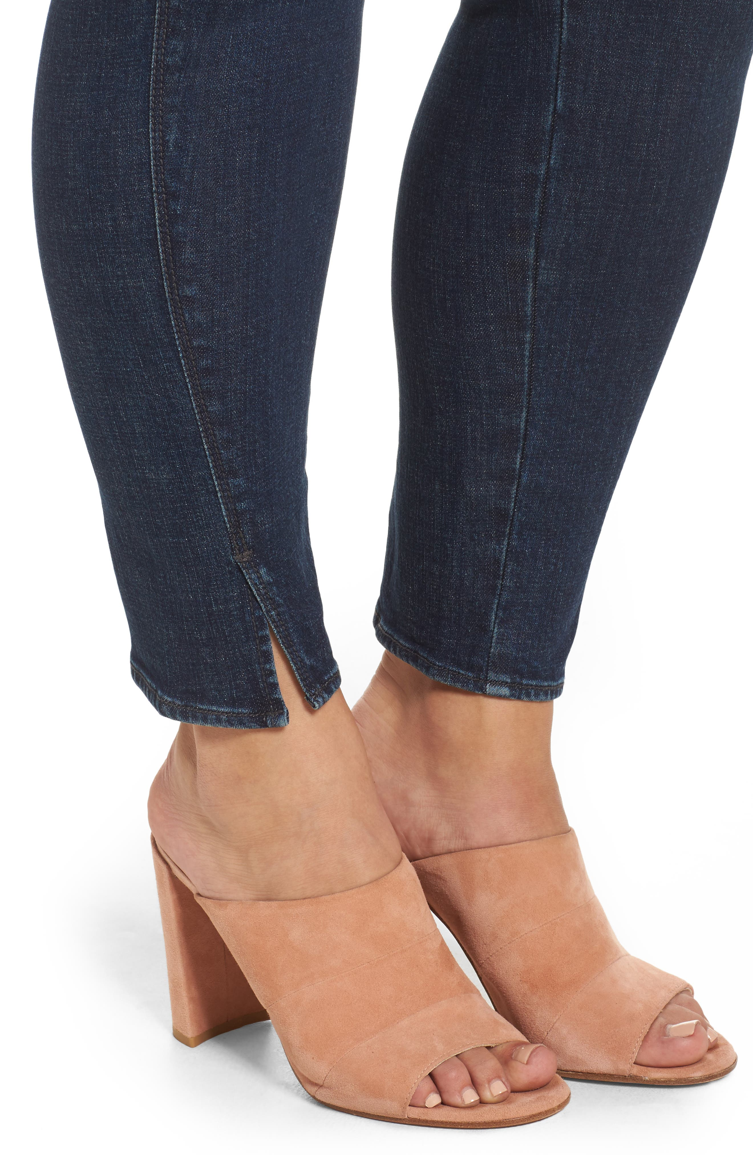 Twisted Seam Ankle Skimmer Jeans,                             Alternate thumbnail 4, color,                             402