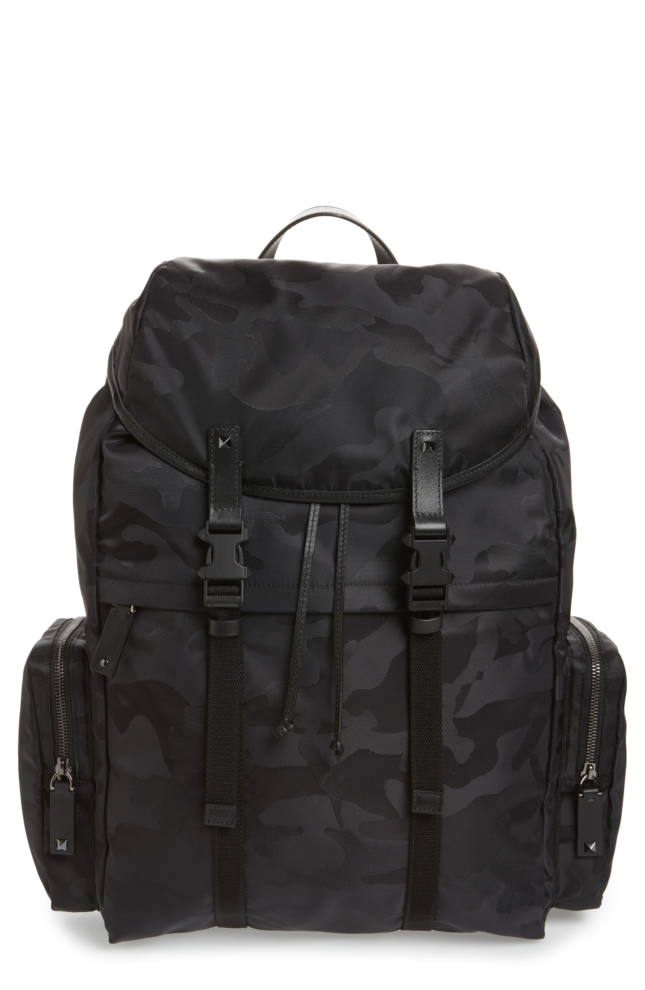 Camo Backpack,                             Main thumbnail 1, color,                             BLACK