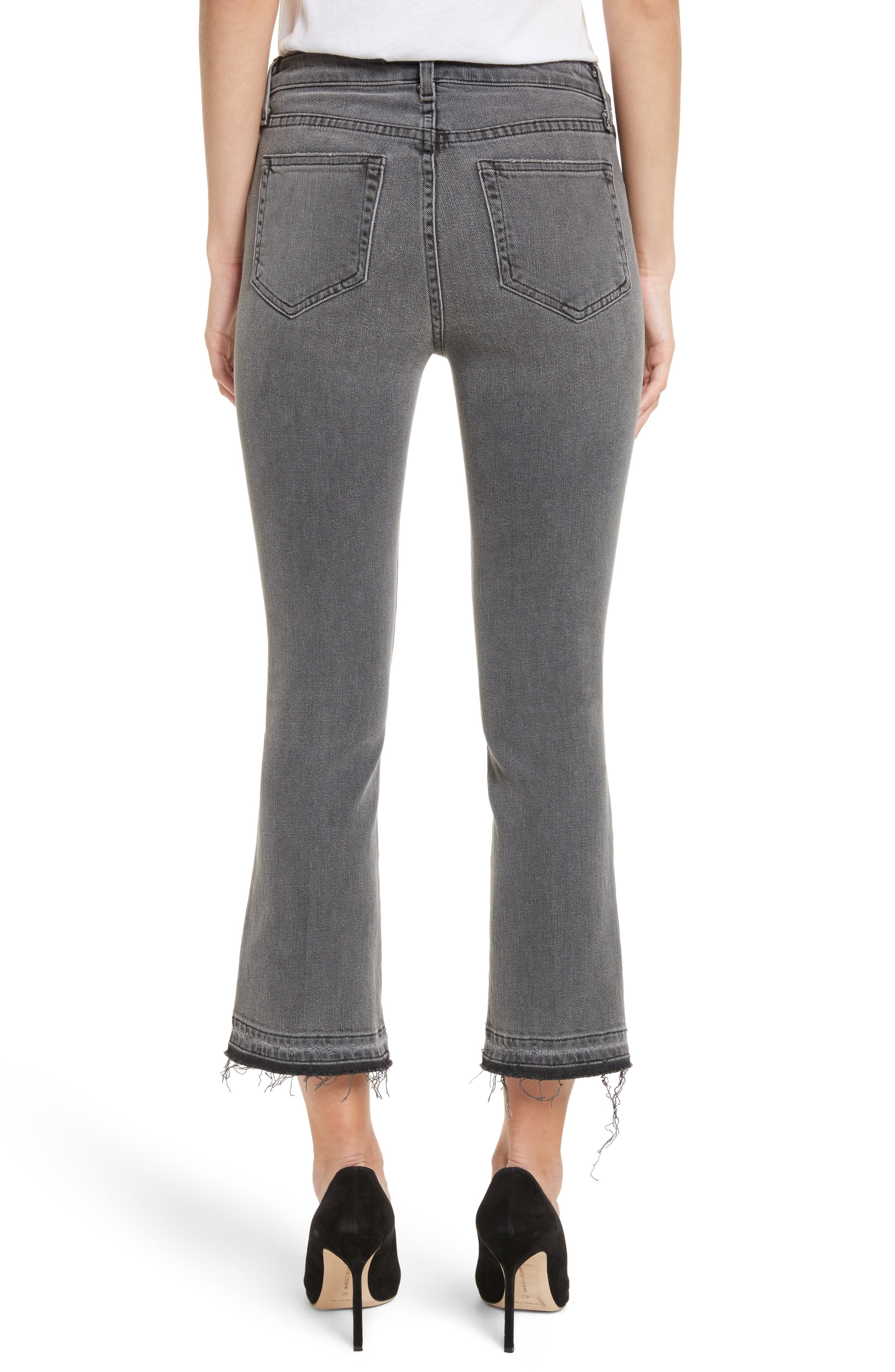 Serena High Waist Crop Flare Jeans,                             Alternate thumbnail 2, color,