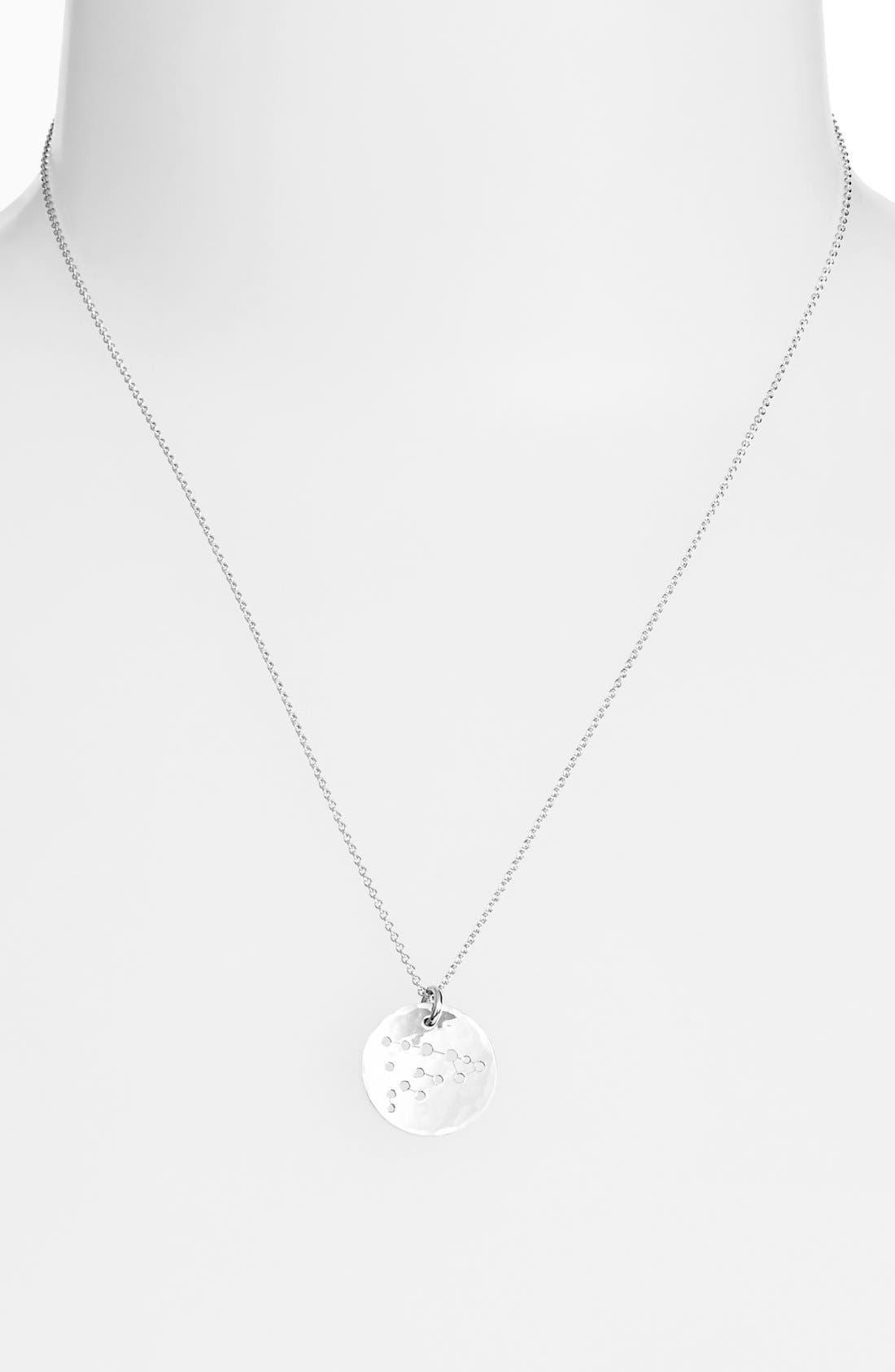 Ija 'Small Zodiac' Sterling Silver Necklace,                             Main thumbnail 11, color,
