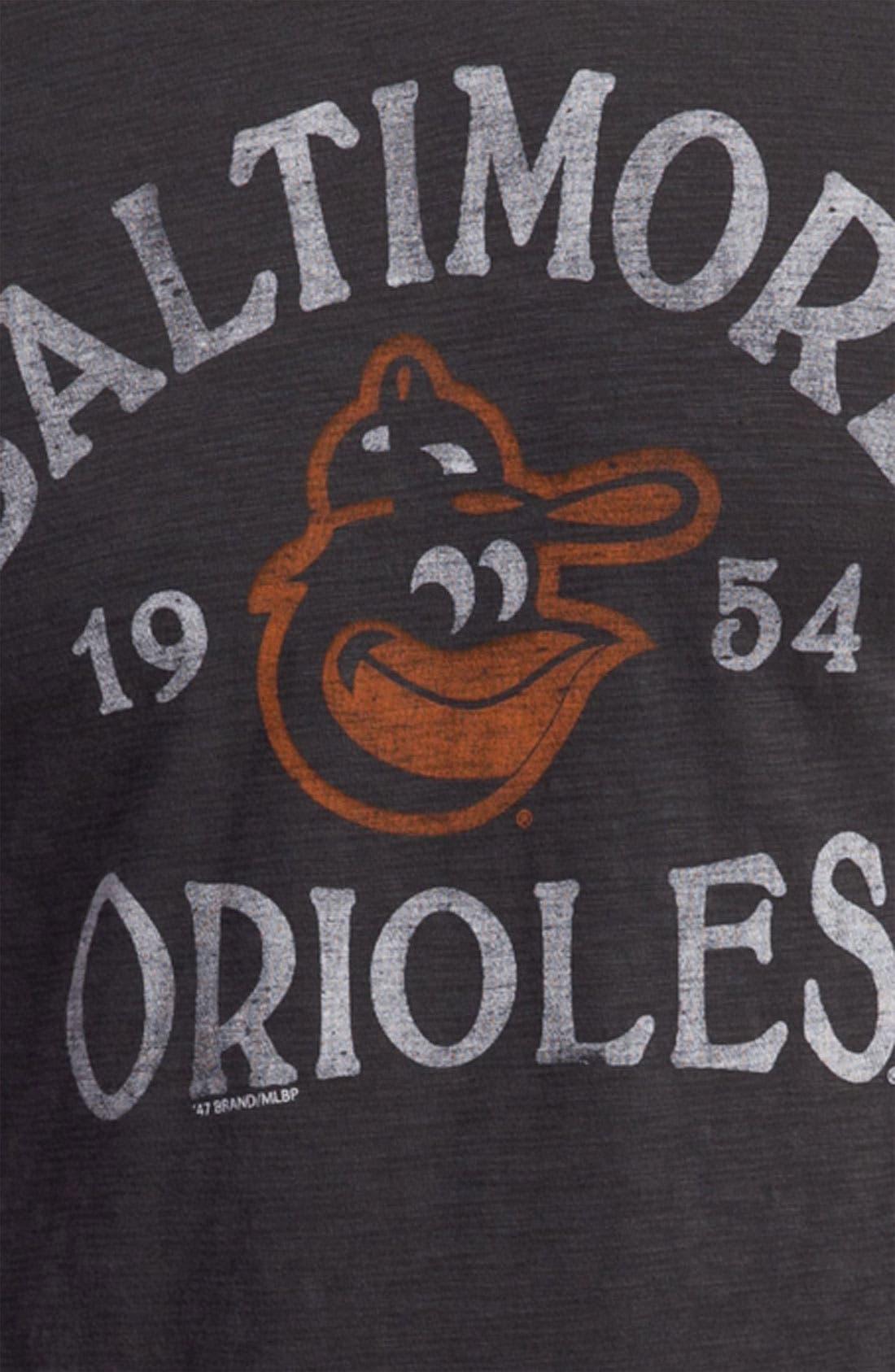 'Chicago Cubs' Regular Fit Crewneck T-Shirt,                             Alternate thumbnail 53, color,