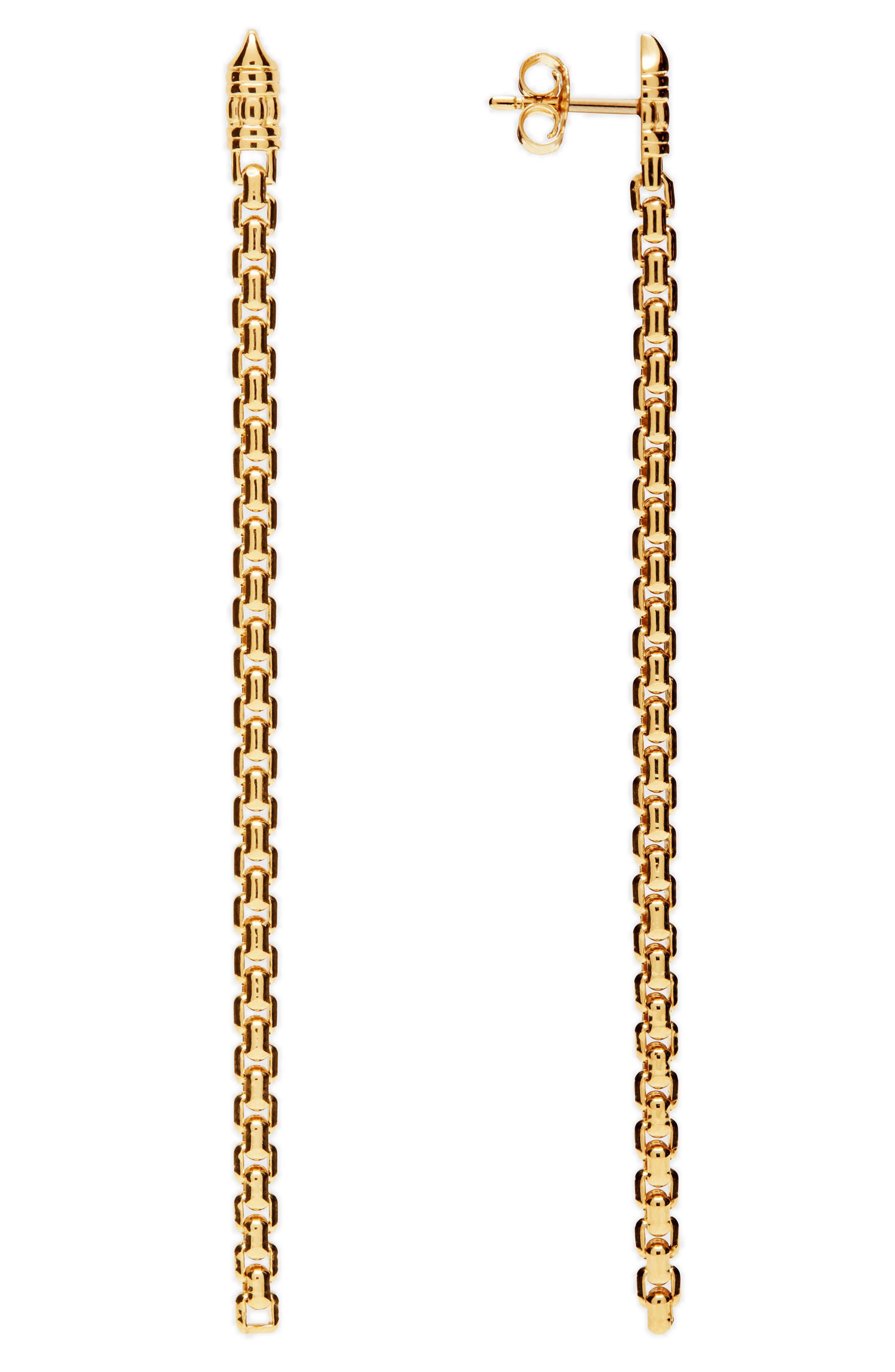 Venetian Chain Link Drop Earrings,                             Main thumbnail 1, color,                             040