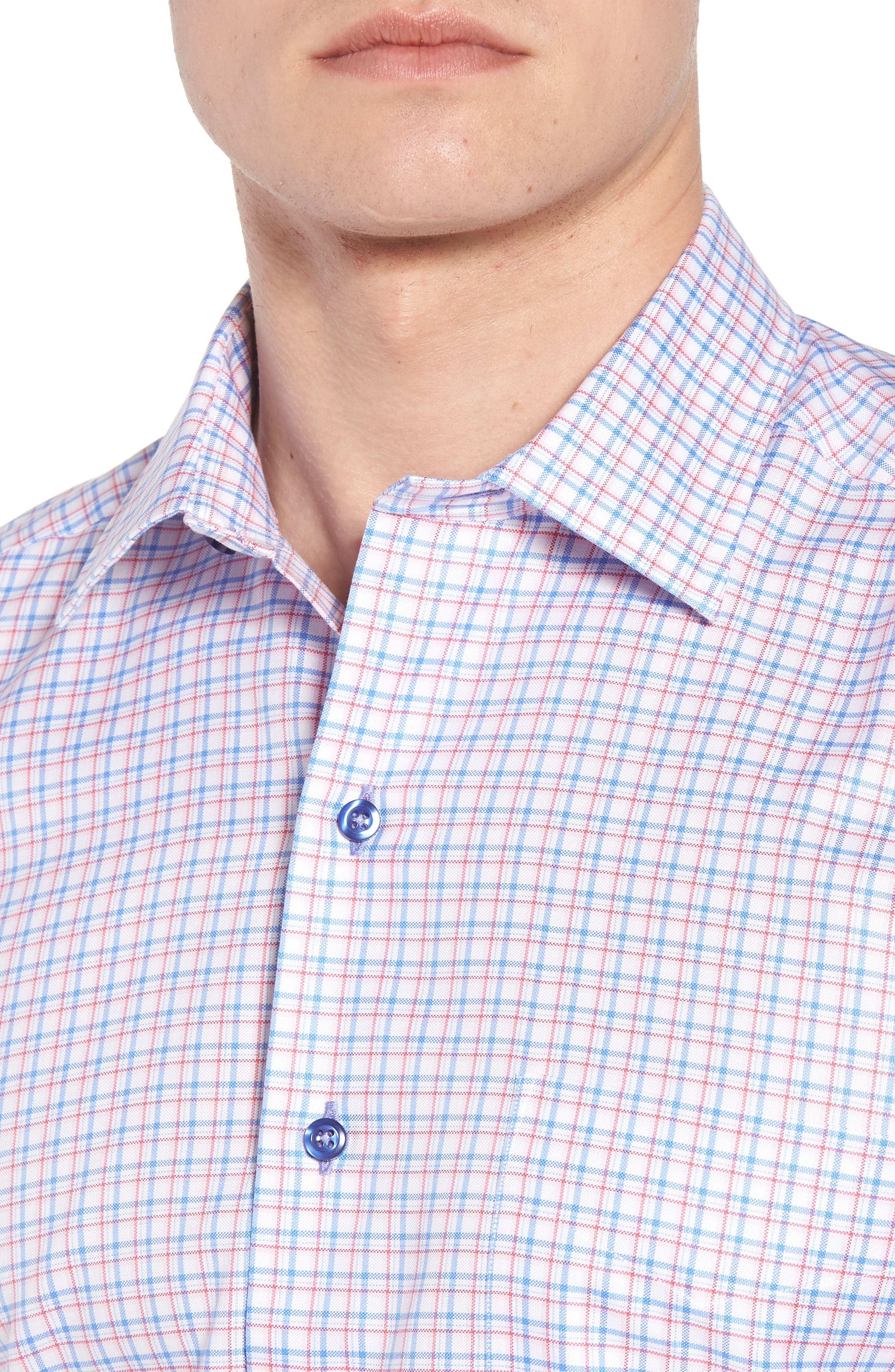 Regular Fit Check Sport Shirt,                             Alternate thumbnail 4, color,                             467