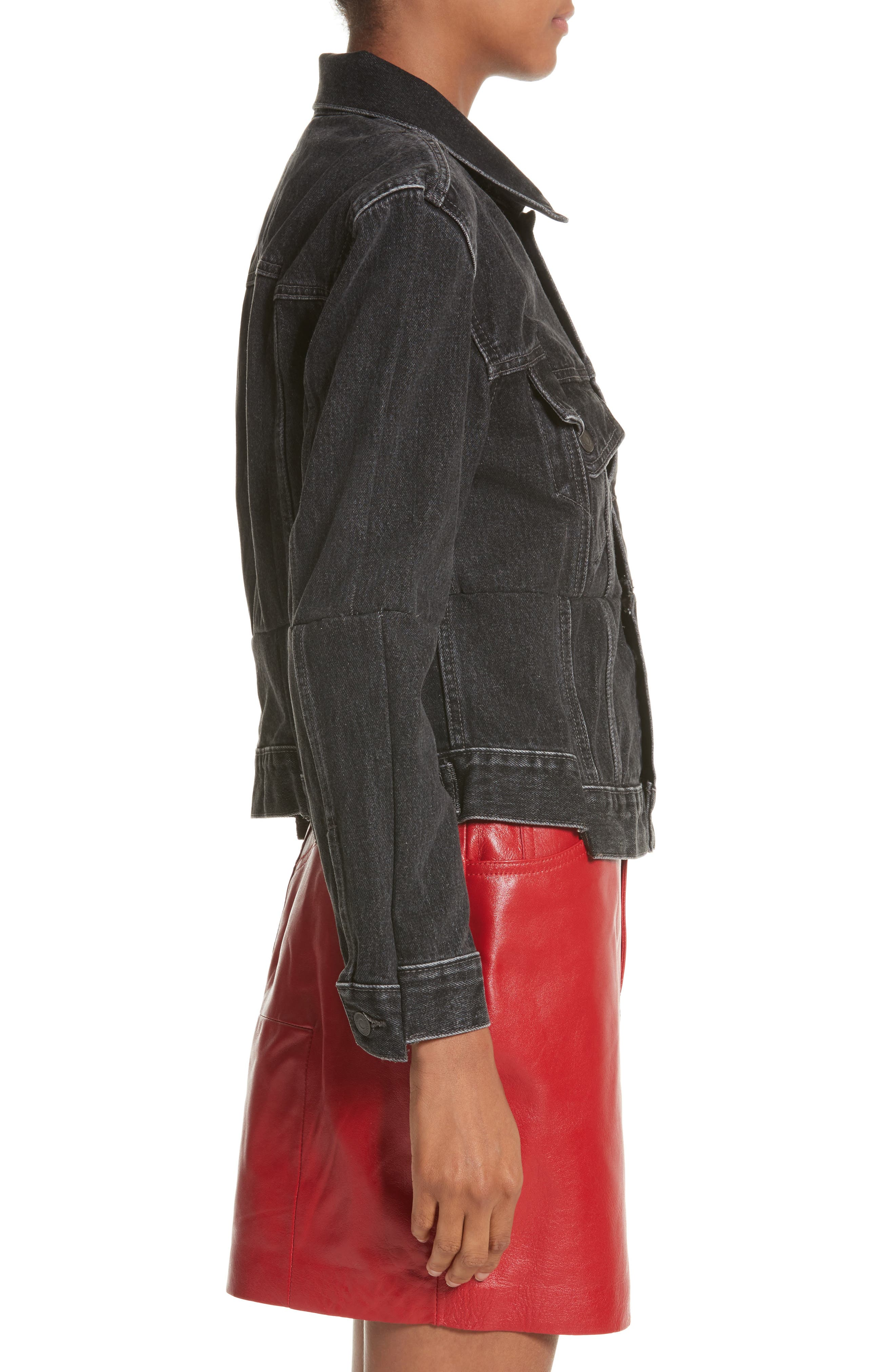 Reworked Denim Jacket,                             Alternate thumbnail 3, color,                             001