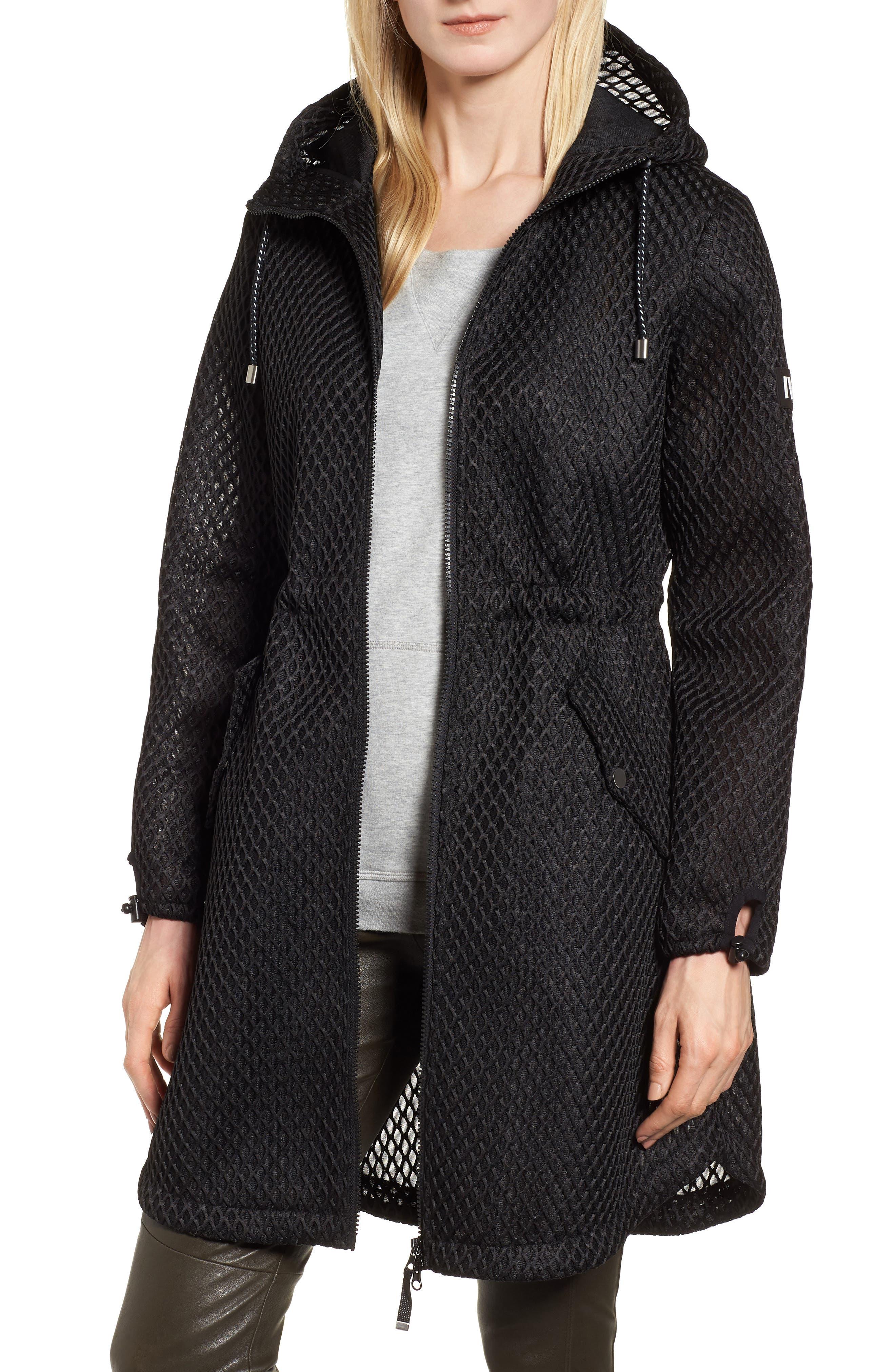 Hooded Mesh Jacket,                             Main thumbnail 1, color,