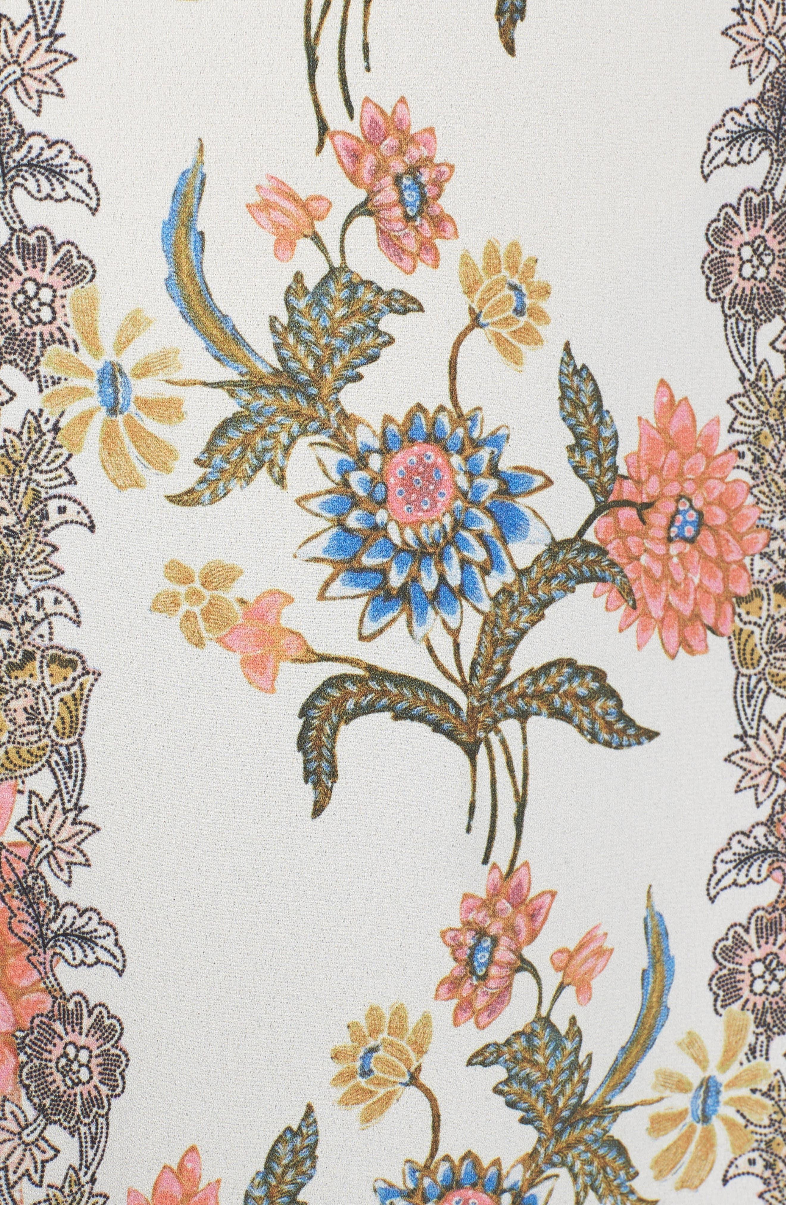 Floral Maxi Skirt,                             Alternate thumbnail 5, color,                             650
