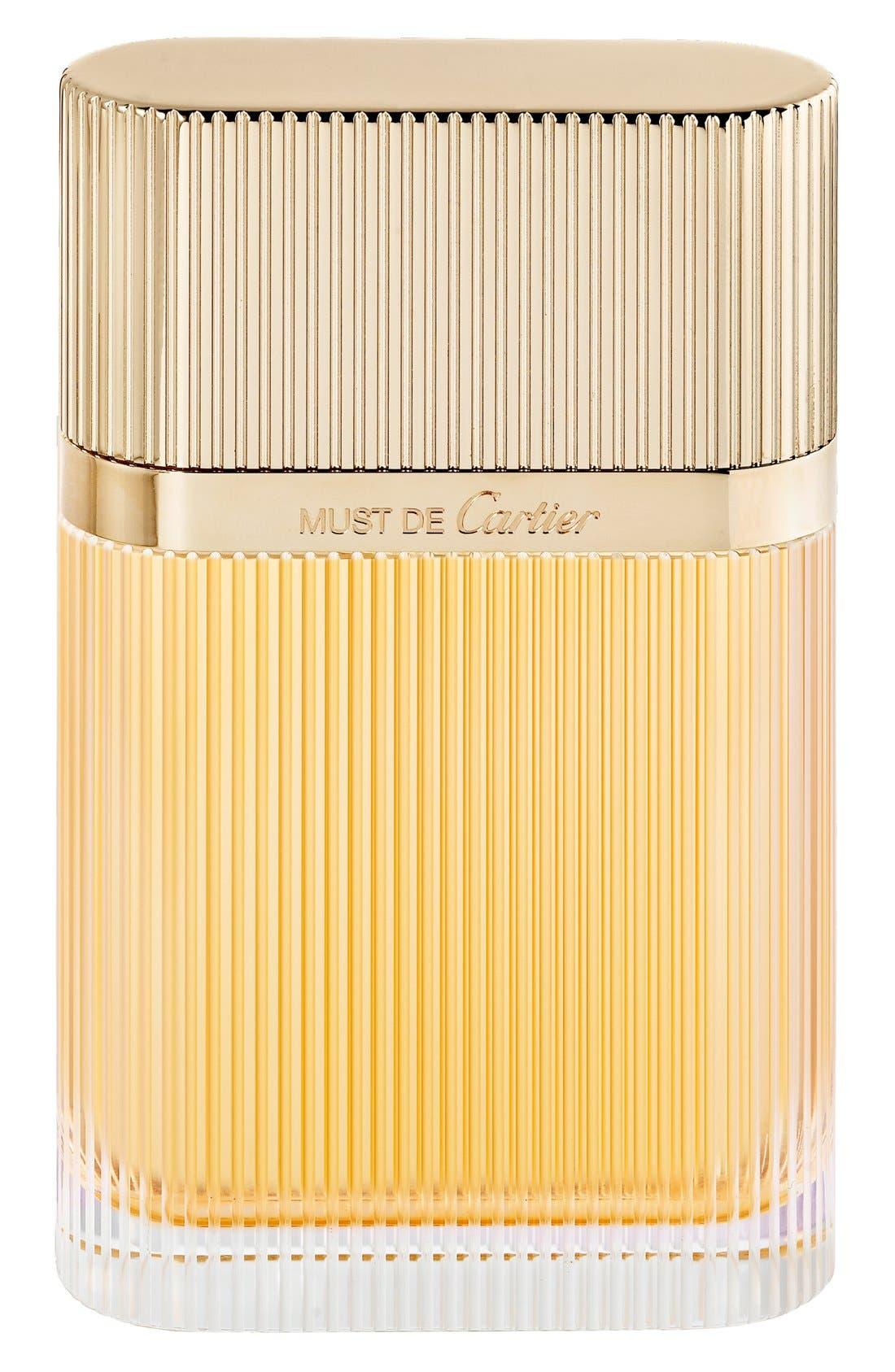 Must de Cartier Gold Eau de Parfum,                             Main thumbnail 1, color,                             NO COLOR