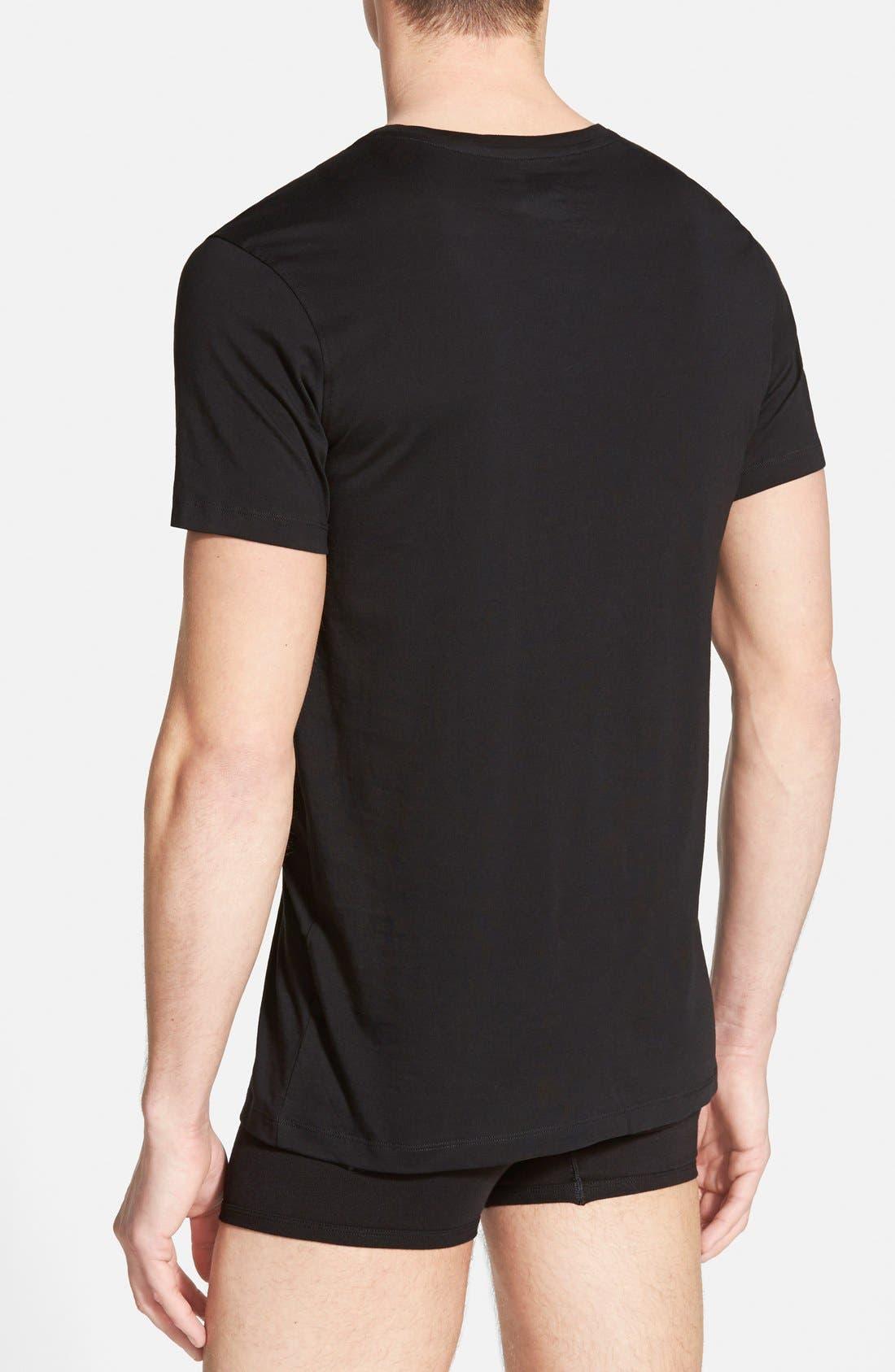 Supima<sup>®</sup> Cotton V-Neck T-Shirt,                             Alternate thumbnail 3, color,