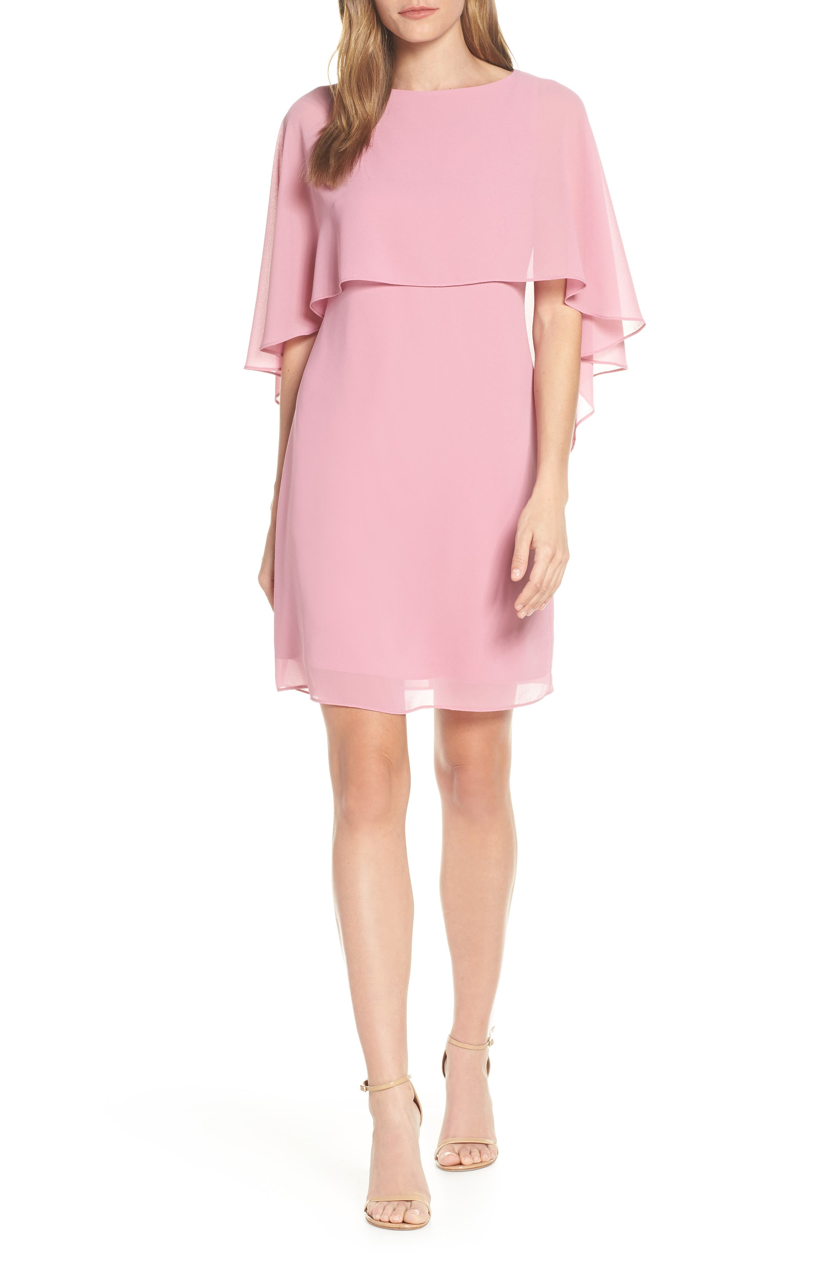 Vince Camuto Cape Overlay Dress, Purple