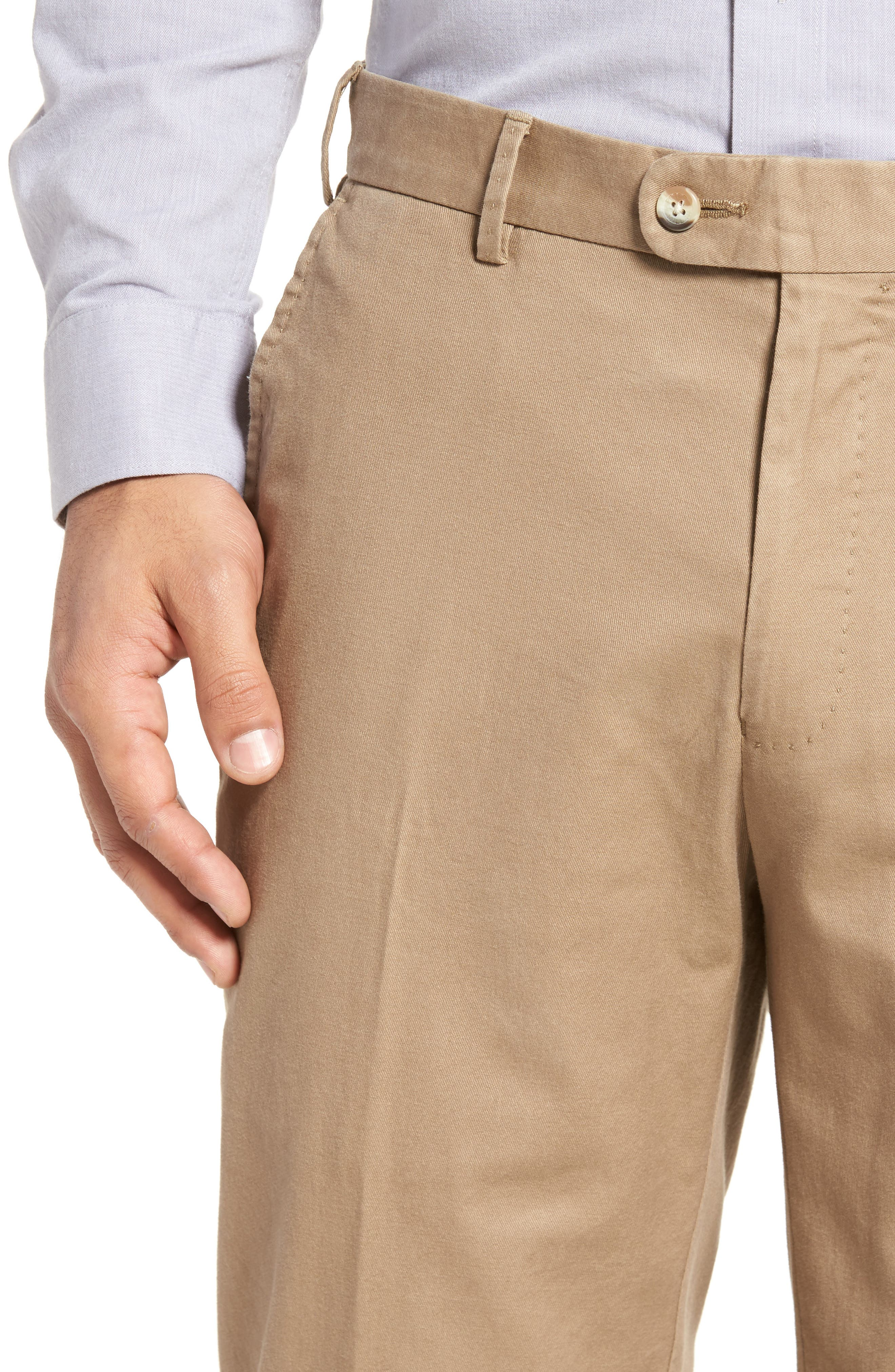 PETER MILLAR,                             Twill Pants,                             Alternate thumbnail 4, color,                             BRITISH TAN