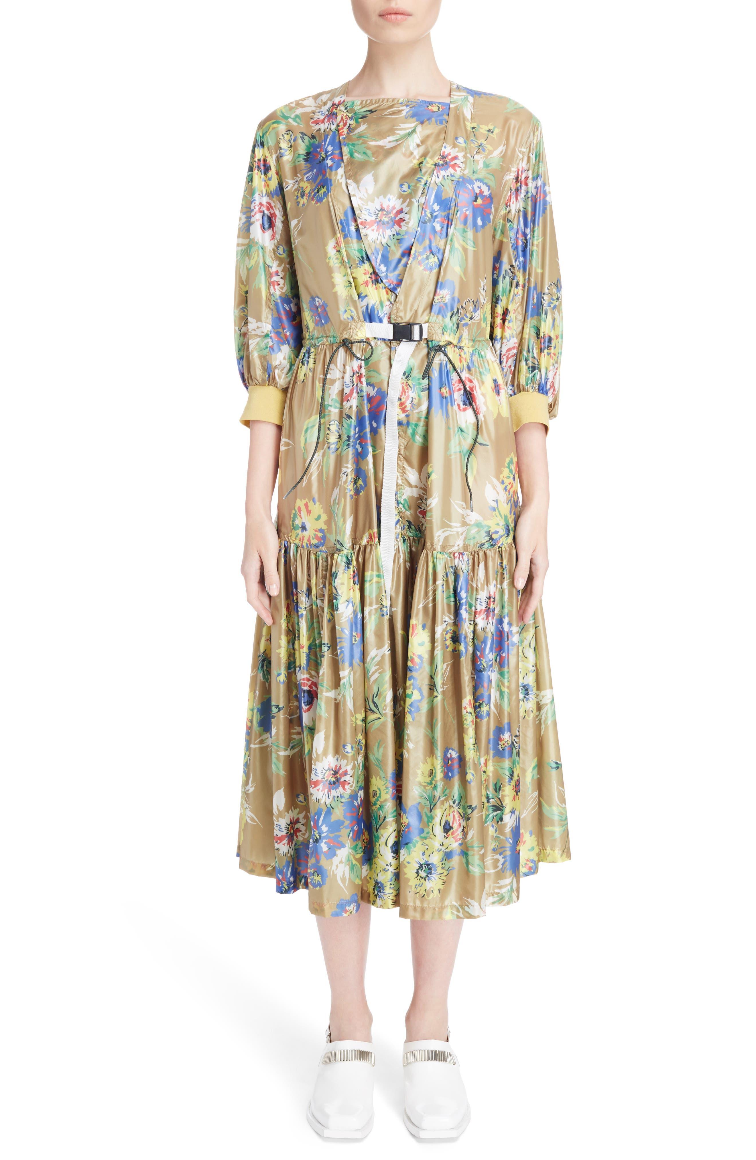 Floral Print Dress,                             Main thumbnail 1, color,                             700