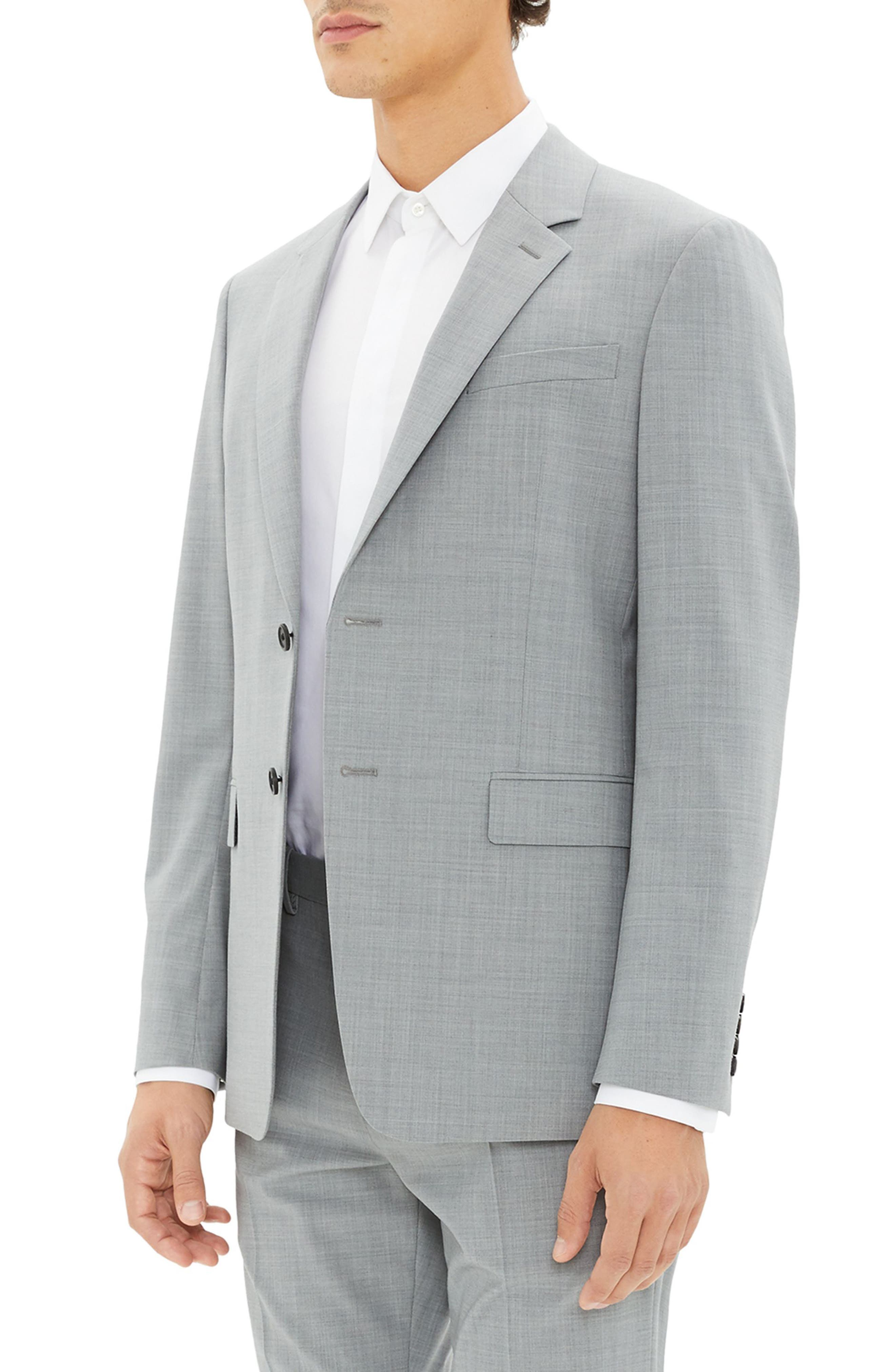 New Tailor Chambers Blazer,                             Alternate thumbnail 3, color,                             CHROME MELANGE