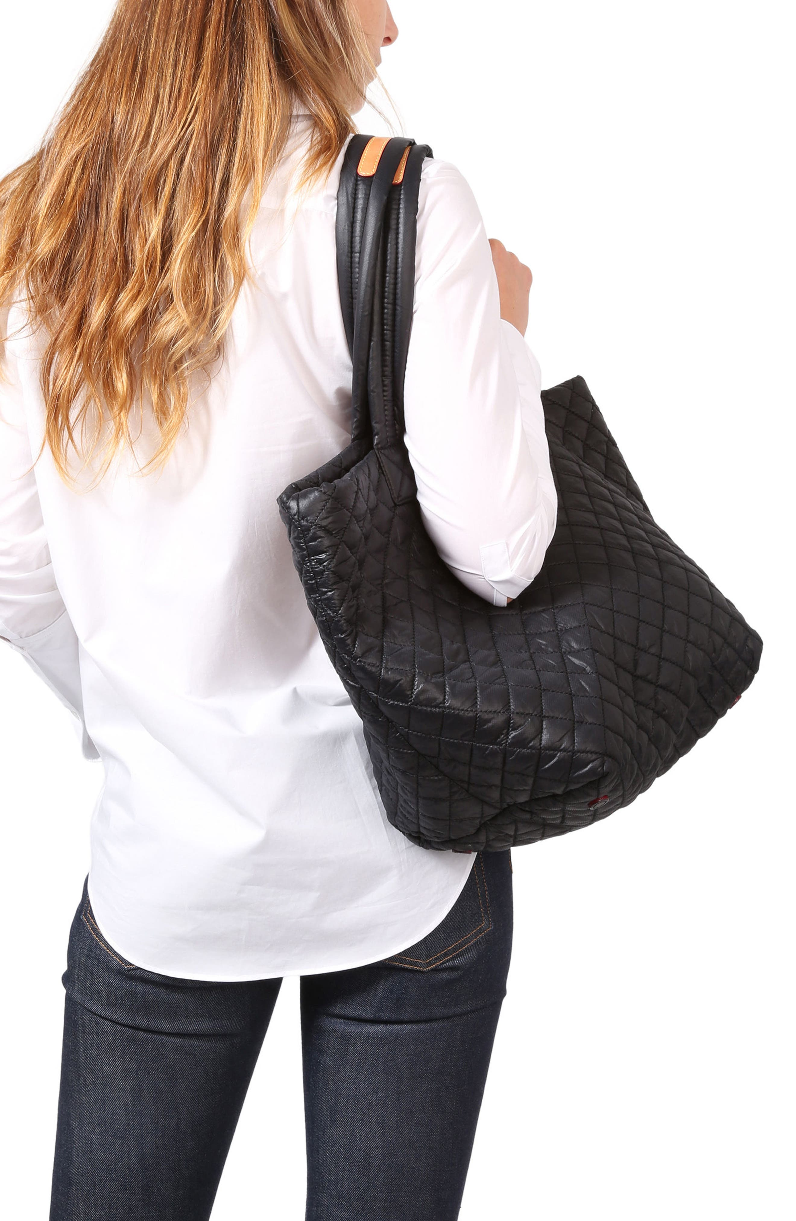 Medium Metro Tote,                             Alternate thumbnail 2, color,                             BLACK