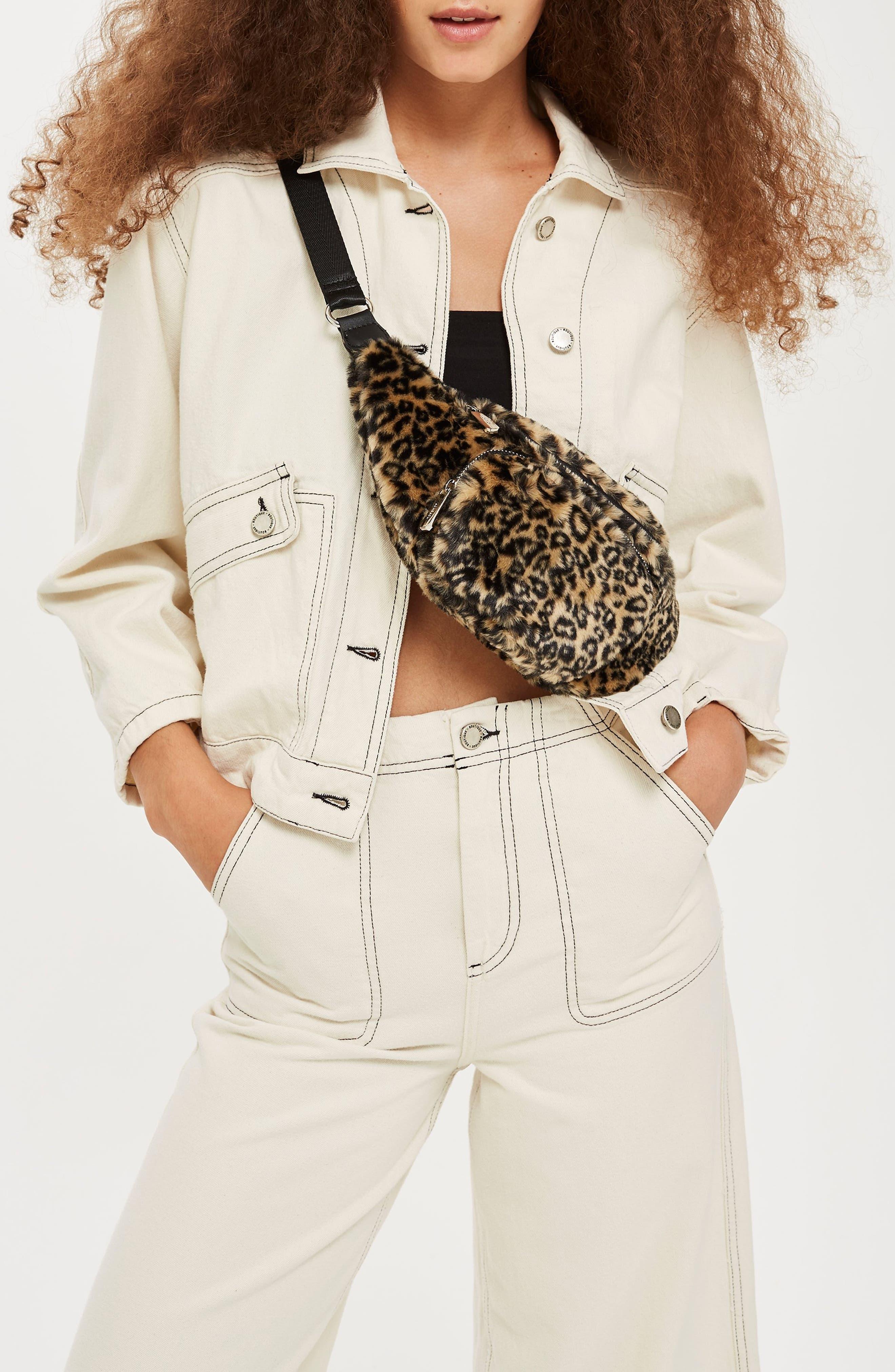 Baxter Leopard Belt Bag,                             Alternate thumbnail 4, color,                             211