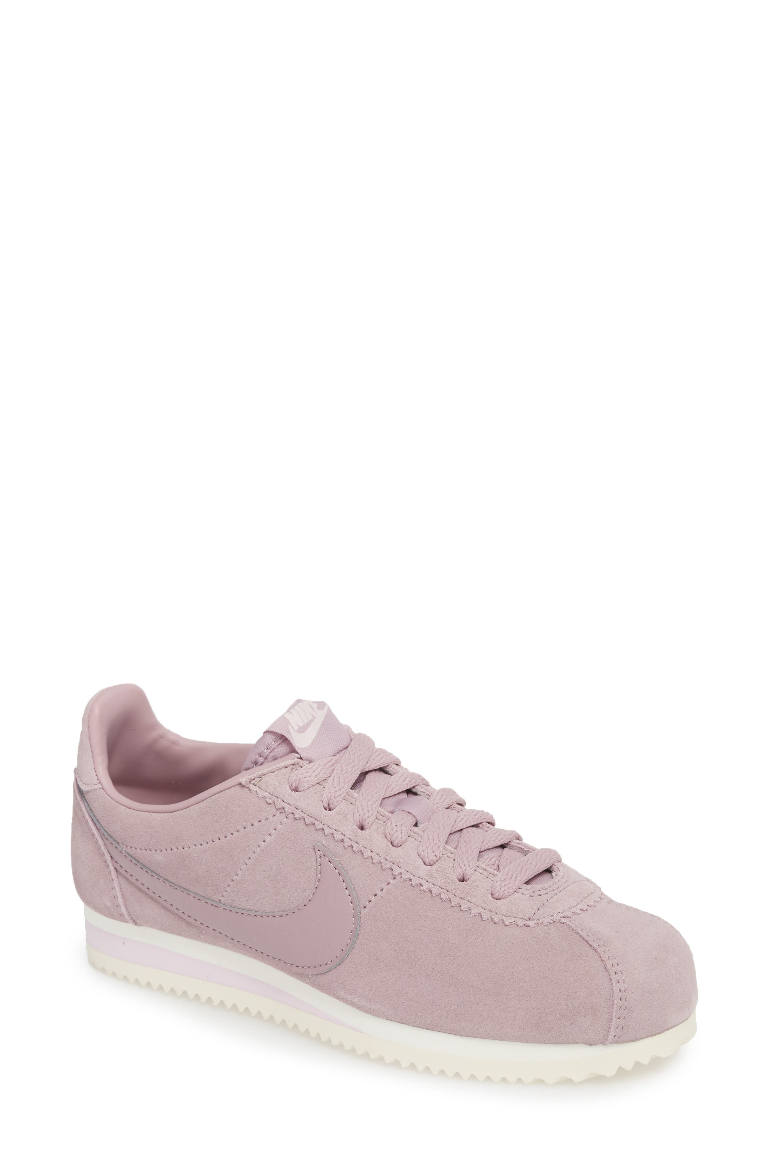 NIKE,                             Classic Cortez Suede Sneaker,                             Main thumbnail 1, color,                             650