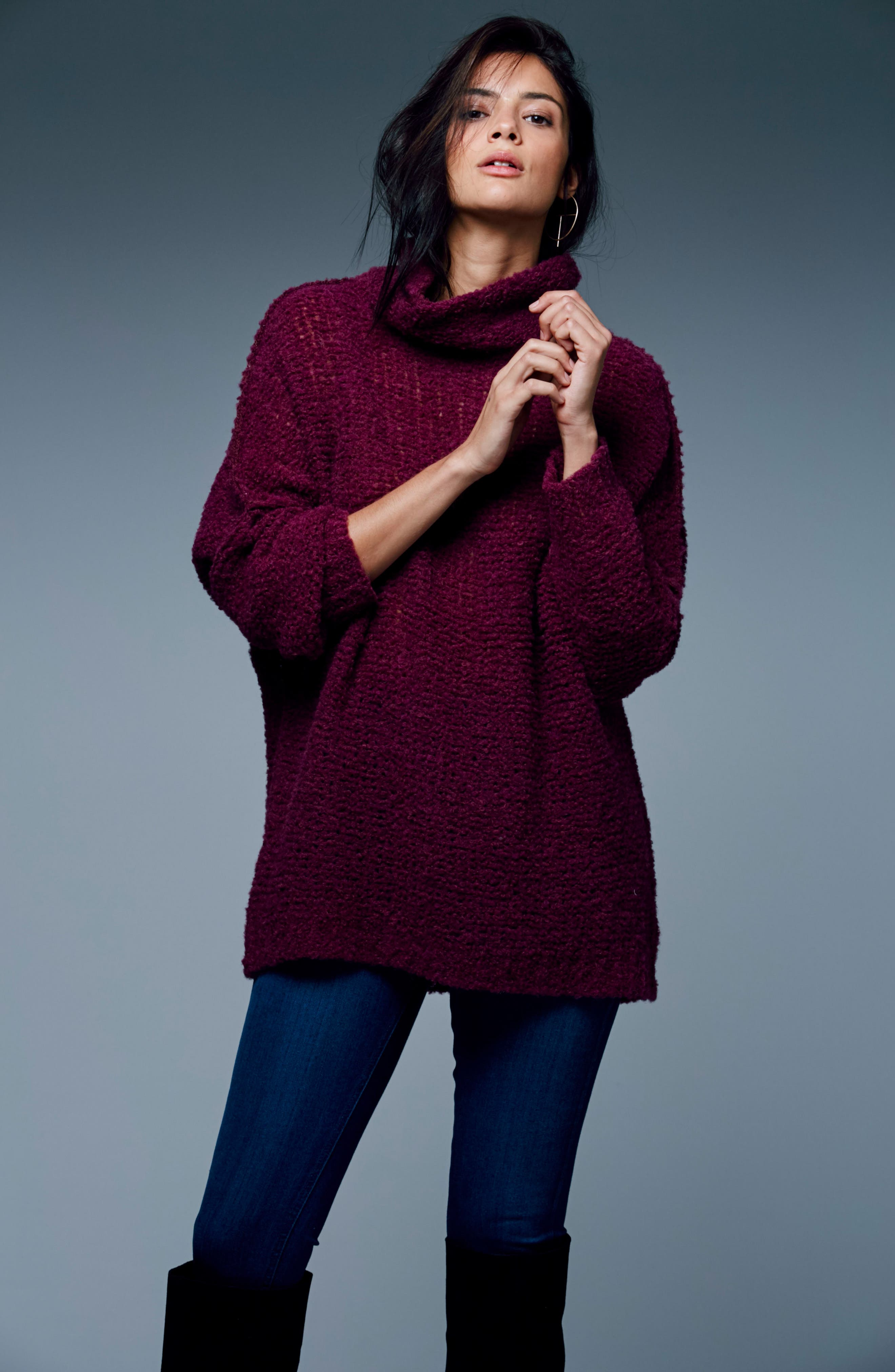 'She's All That' Knit Turtleneck Sweater,                             Alternate thumbnail 32, color,