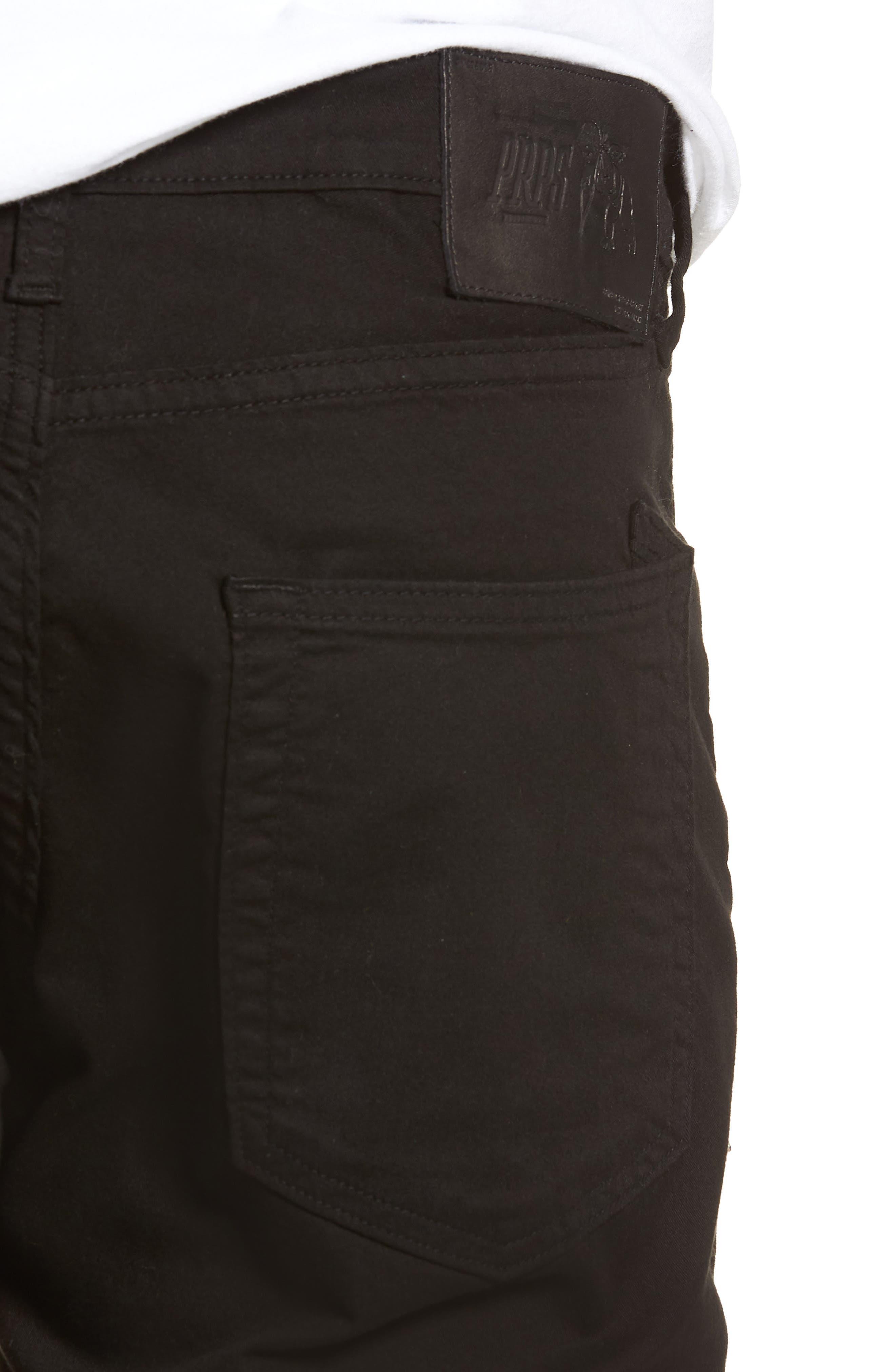 Le Sabre Slim Fit Jeans,                             Alternate thumbnail 4, color,                             BLACK
