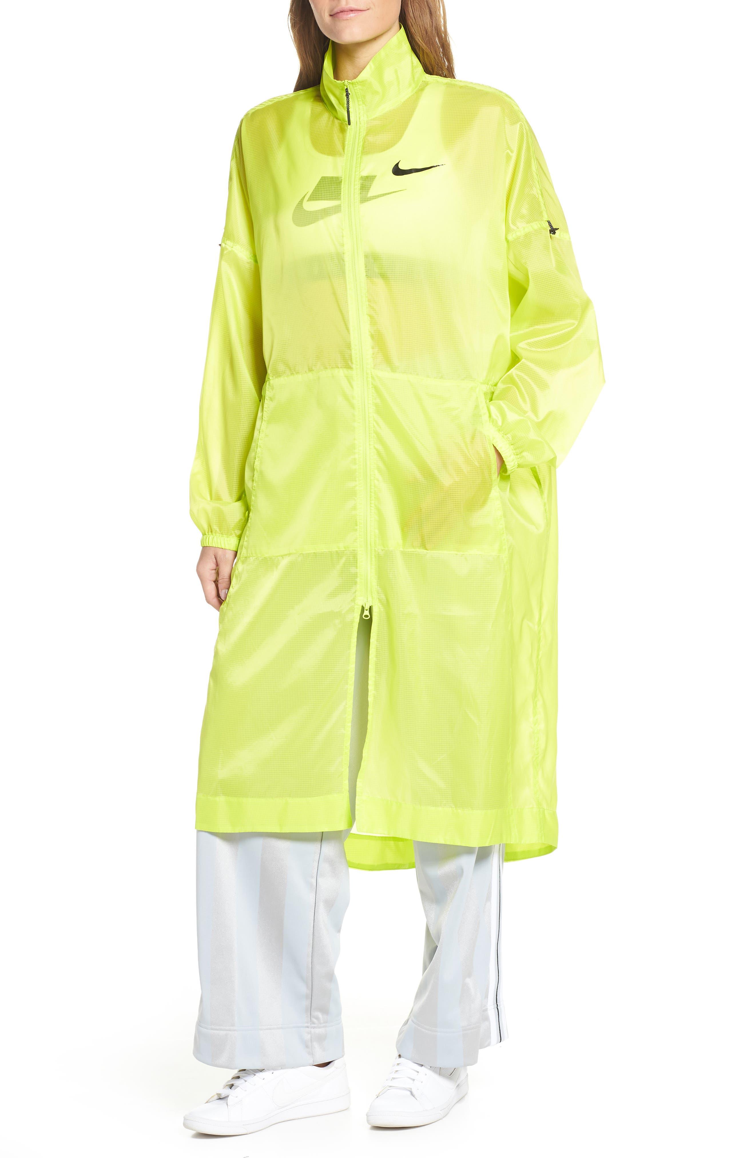 NIKE,                             Sportswear Women's Woven Jacket,                             Alternate thumbnail 4, color,                             CYBER/ BLACK