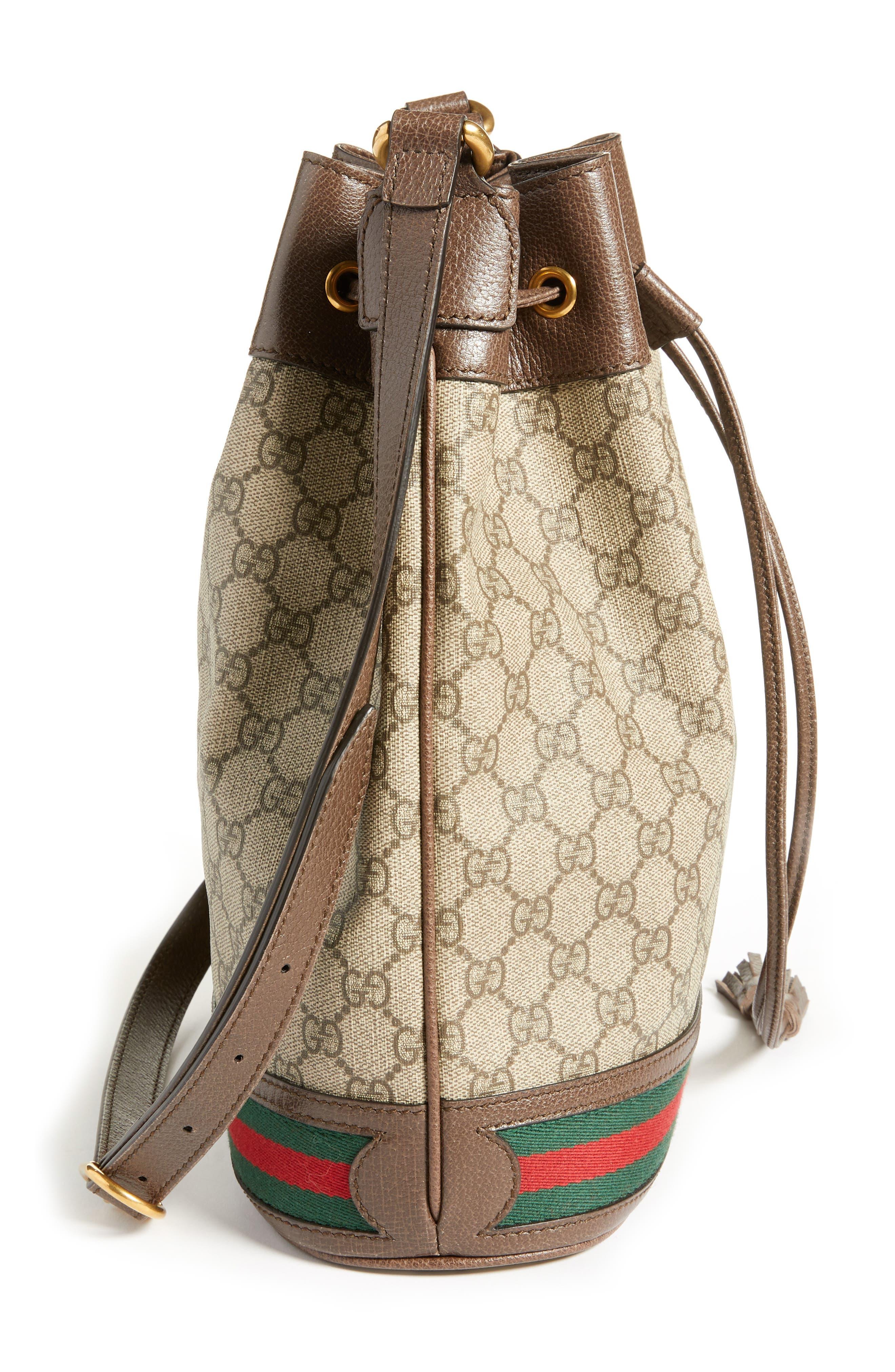Ophidia GG Supreme Bucket Shoulder Bag,                             Alternate thumbnail 5, color,                             250
