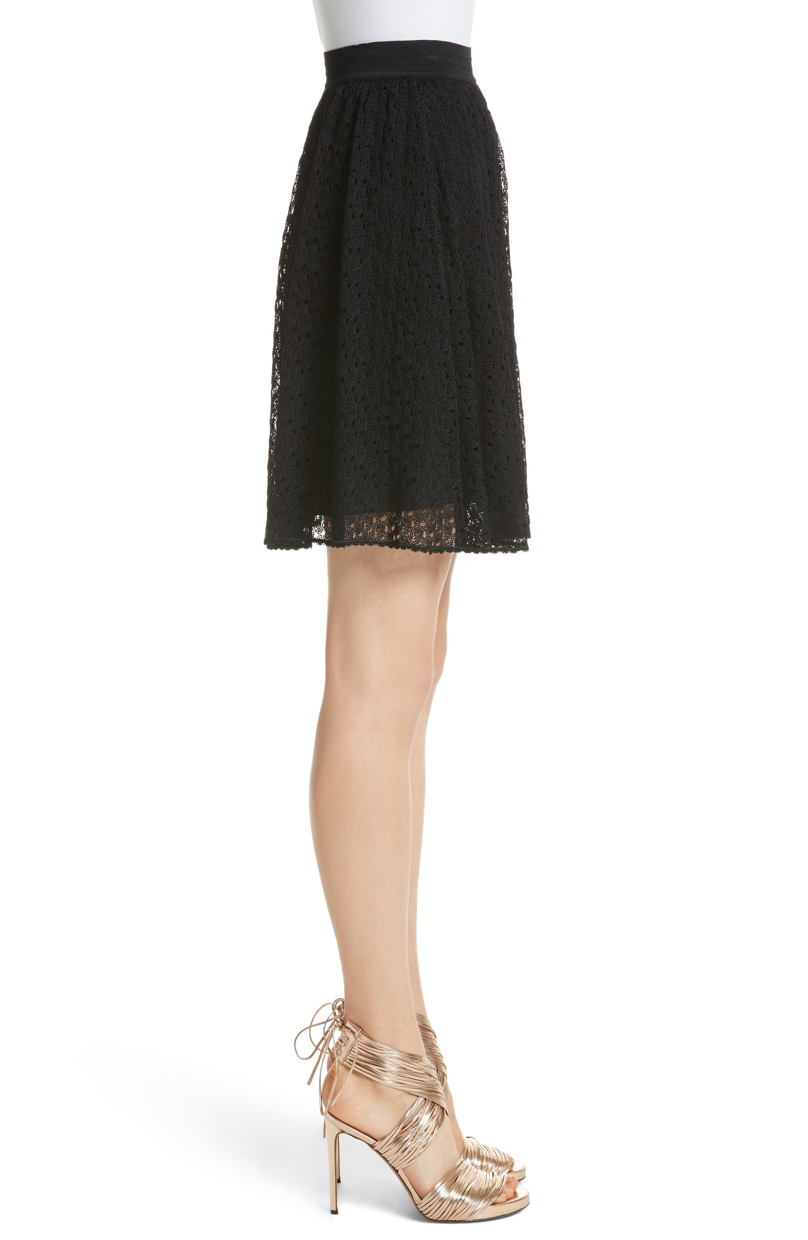 Knit Miniskirt,                             Alternate thumbnail 3, color,