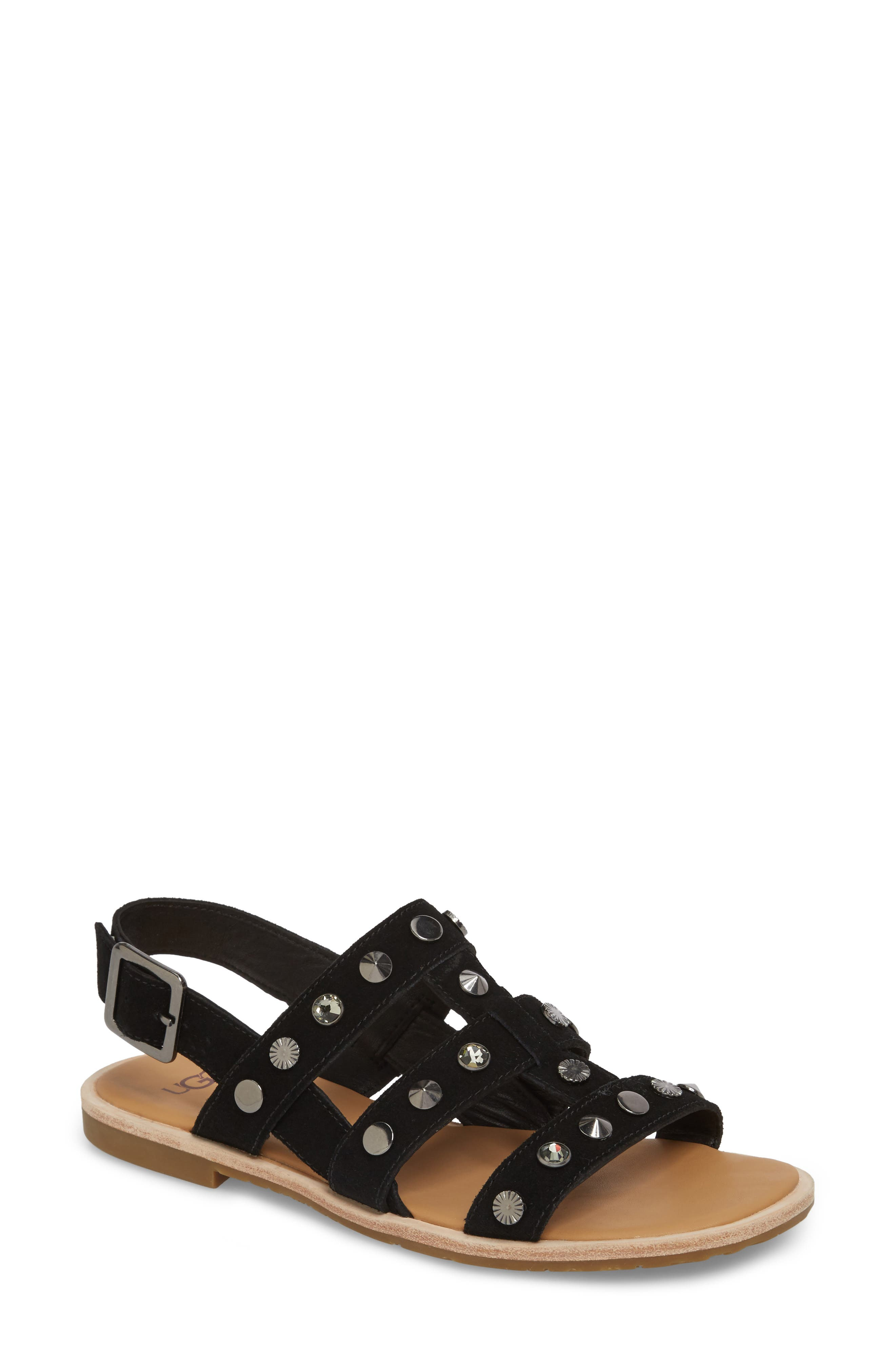 Zariah Studded Sandal,                             Main thumbnail 1, color,                             001