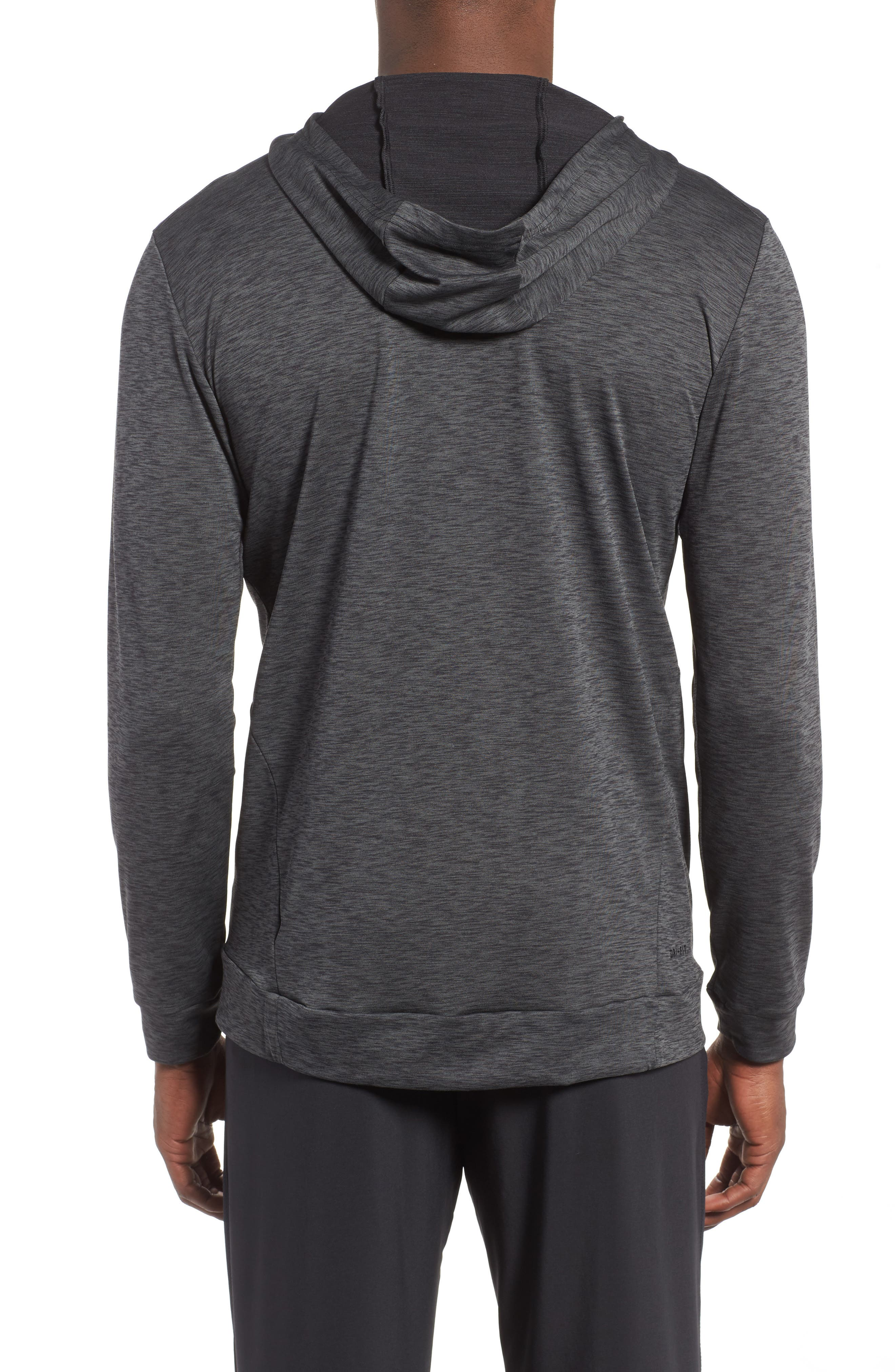 Hyper Dry Regular Fit Training Hoodie,                             Alternate thumbnail 2, color,                             ANTHRACITE/BLACK/BLACK