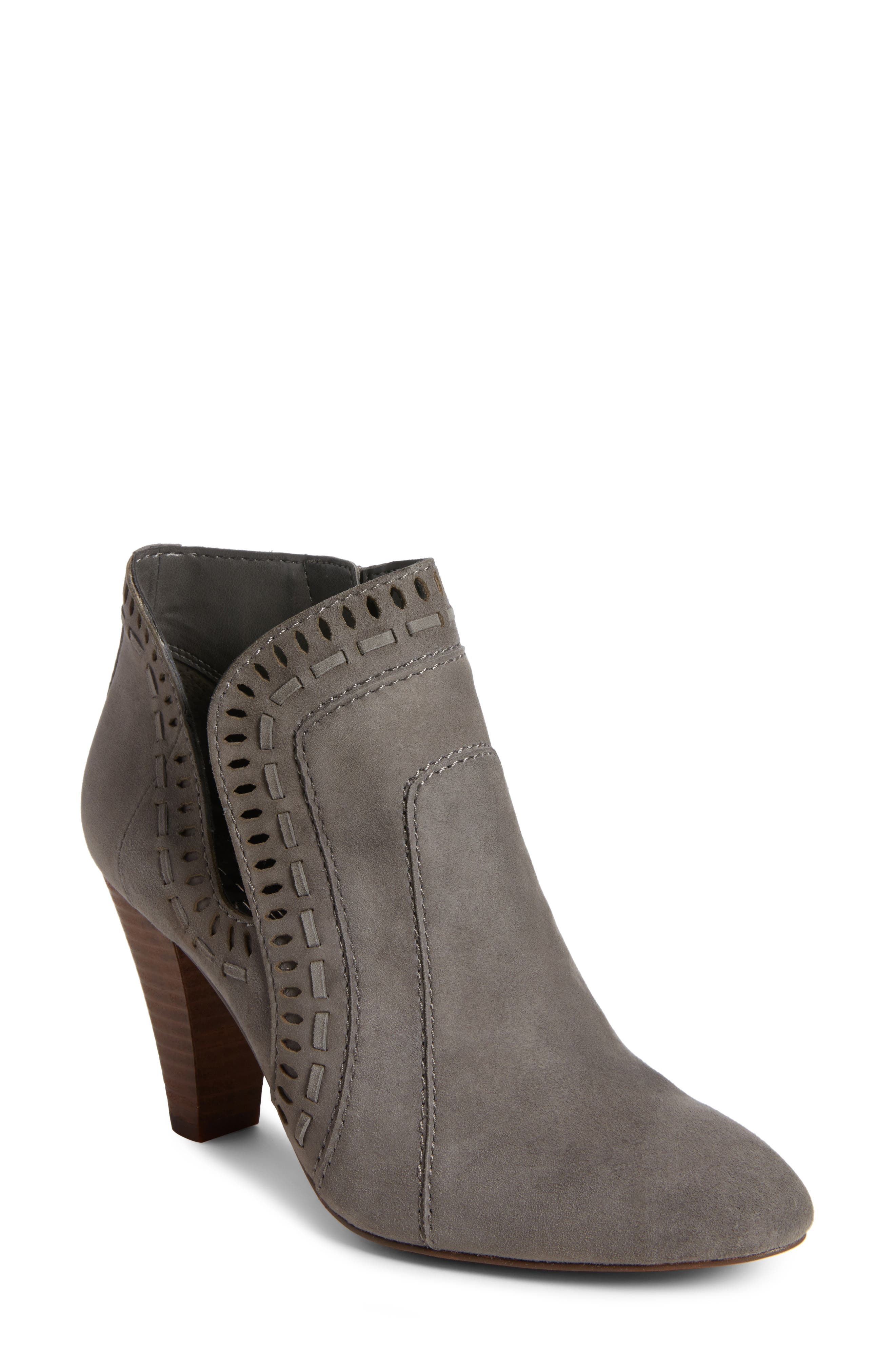 Reeista Bootie,                             Main thumbnail 1, color,                             GREYSTONE SUEDE