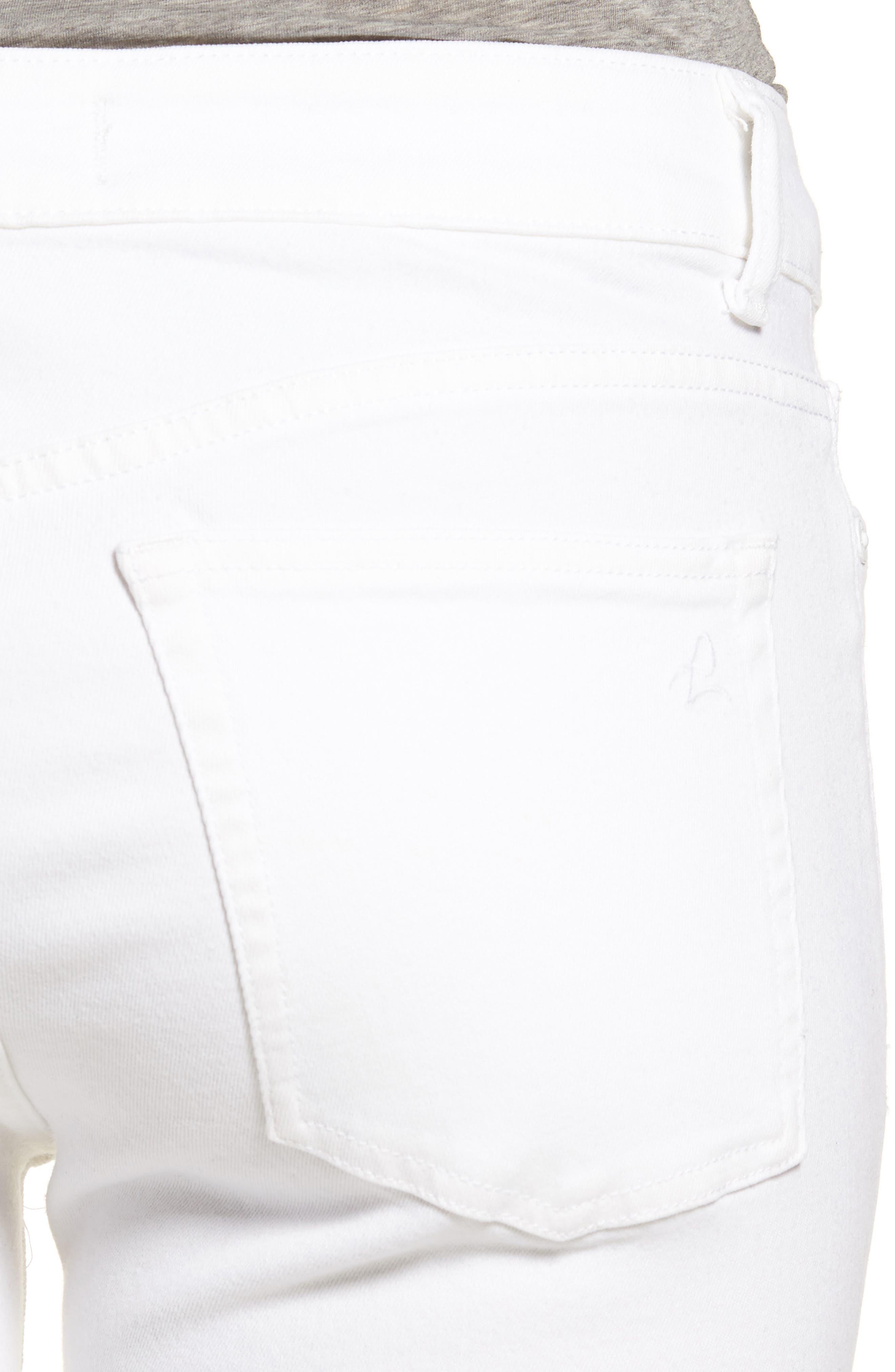Margaux Instasculpt Ankle Skinny Jeans,                             Alternate thumbnail 4, color,                             PORCELAIN