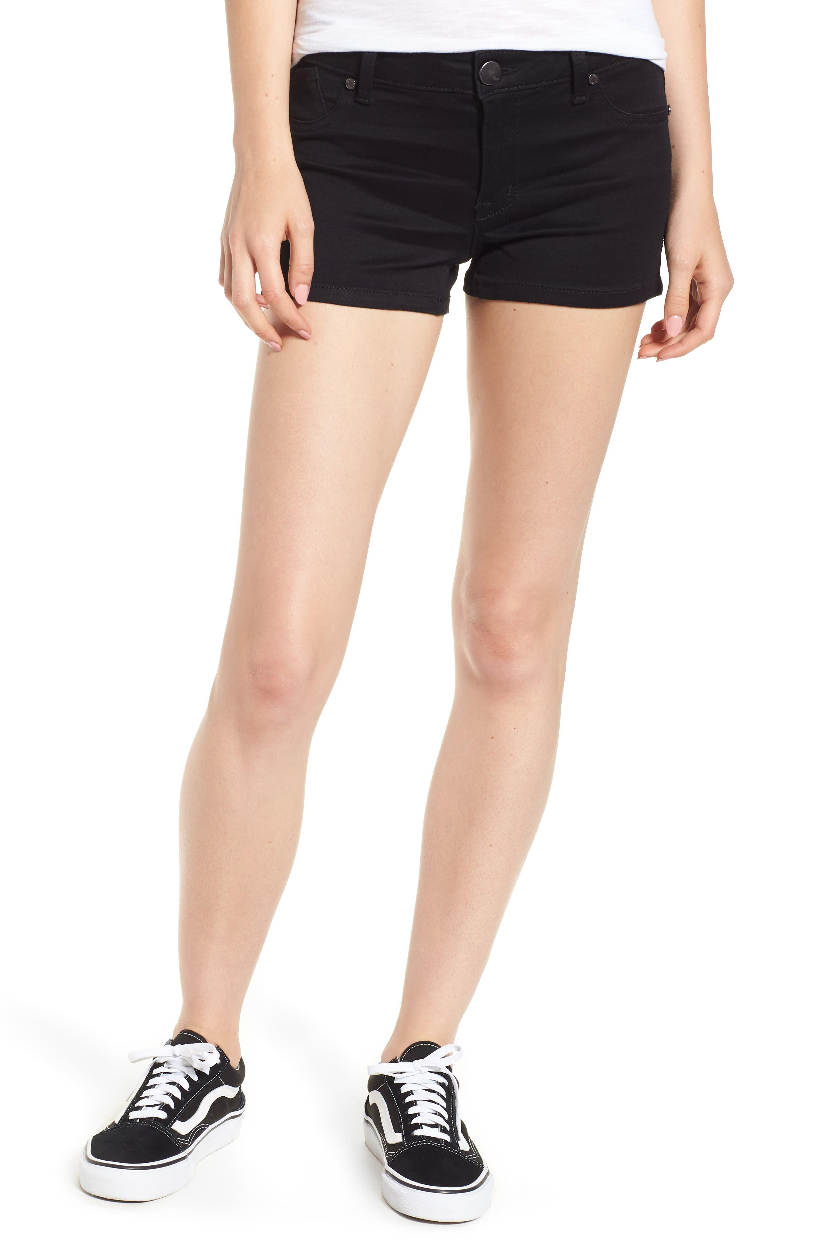 Butter Denim Shorts,                             Main thumbnail 1, color,                             001