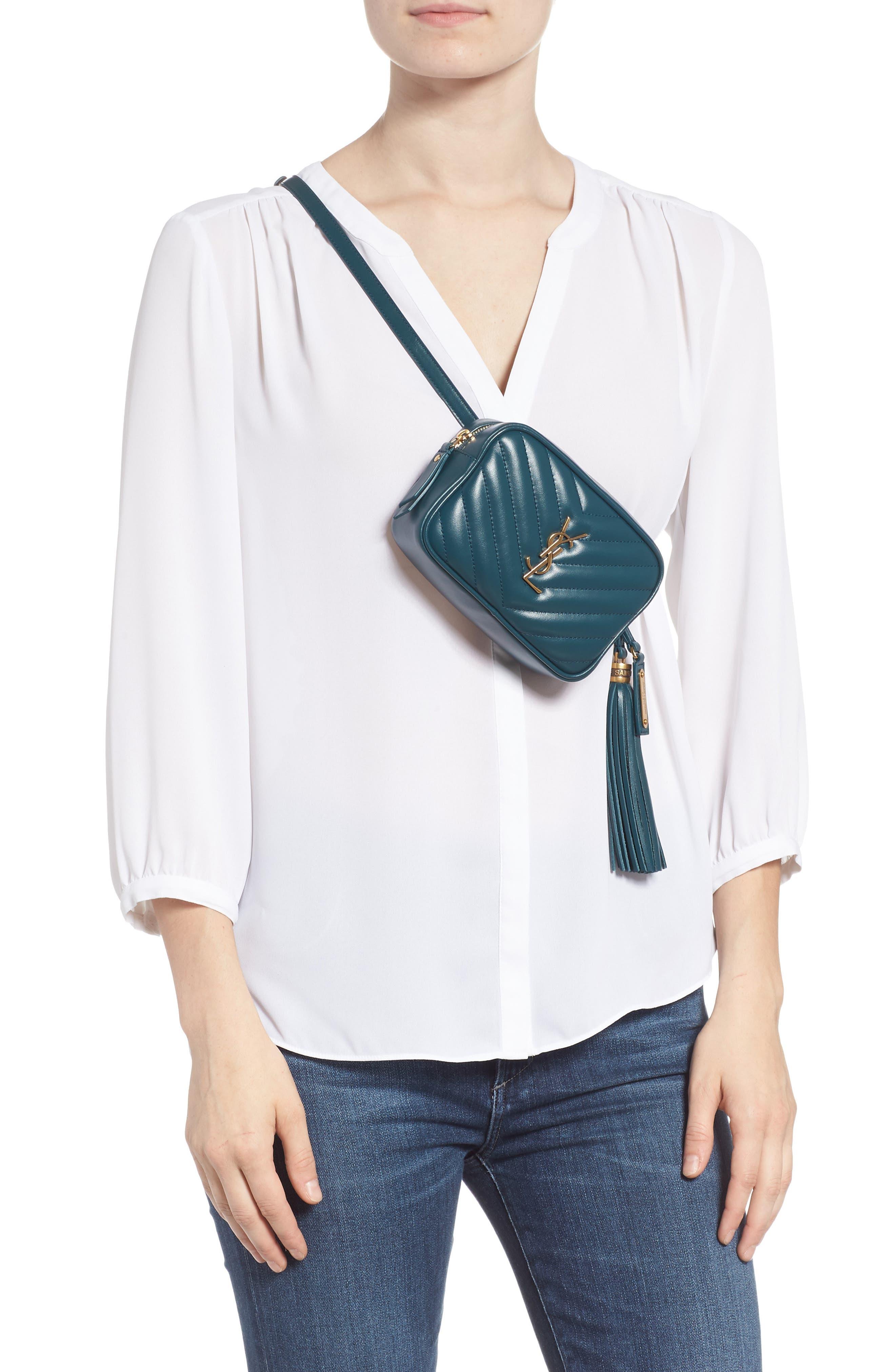 Loulou Matelassé Leather Belt Bag,                             Alternate thumbnail 3, color,                             300