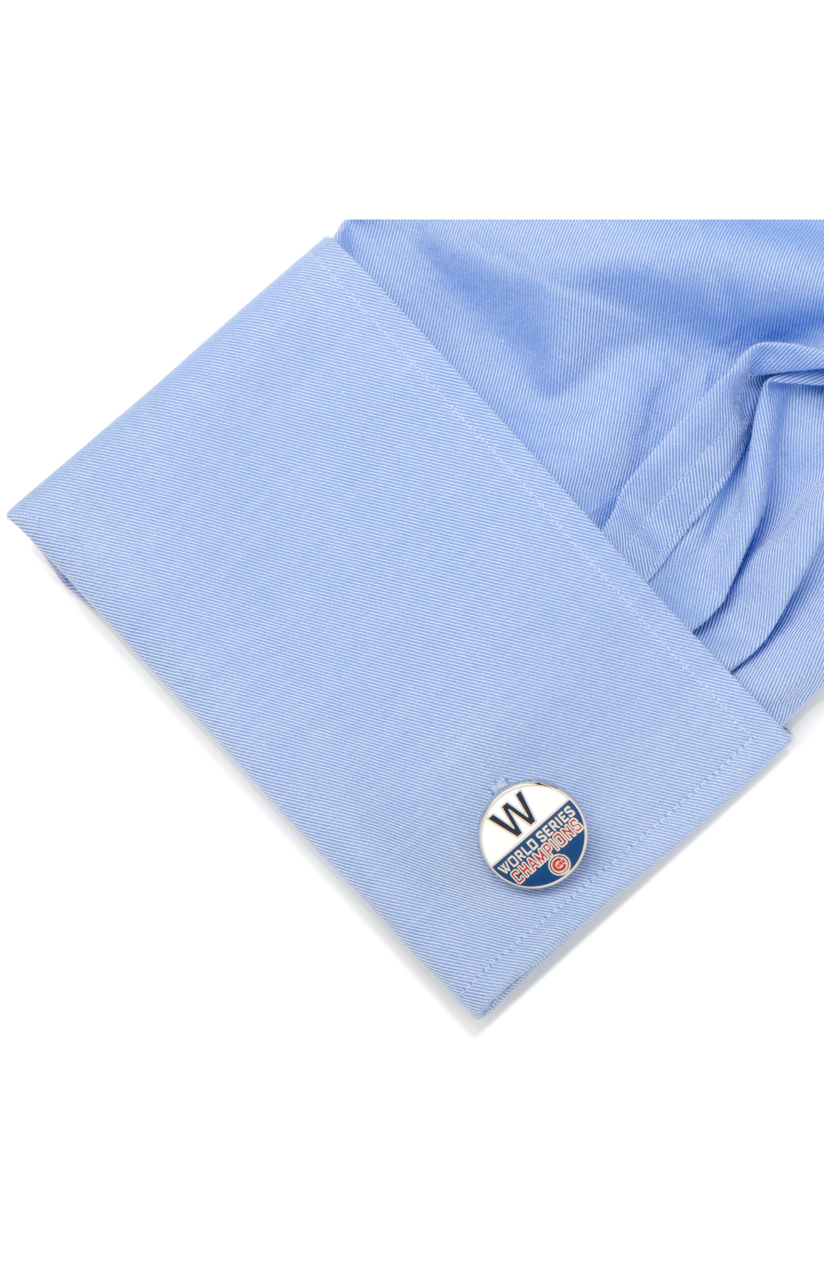 Cubs World Series Cuff Links,                             Alternate thumbnail 3, color,                             046