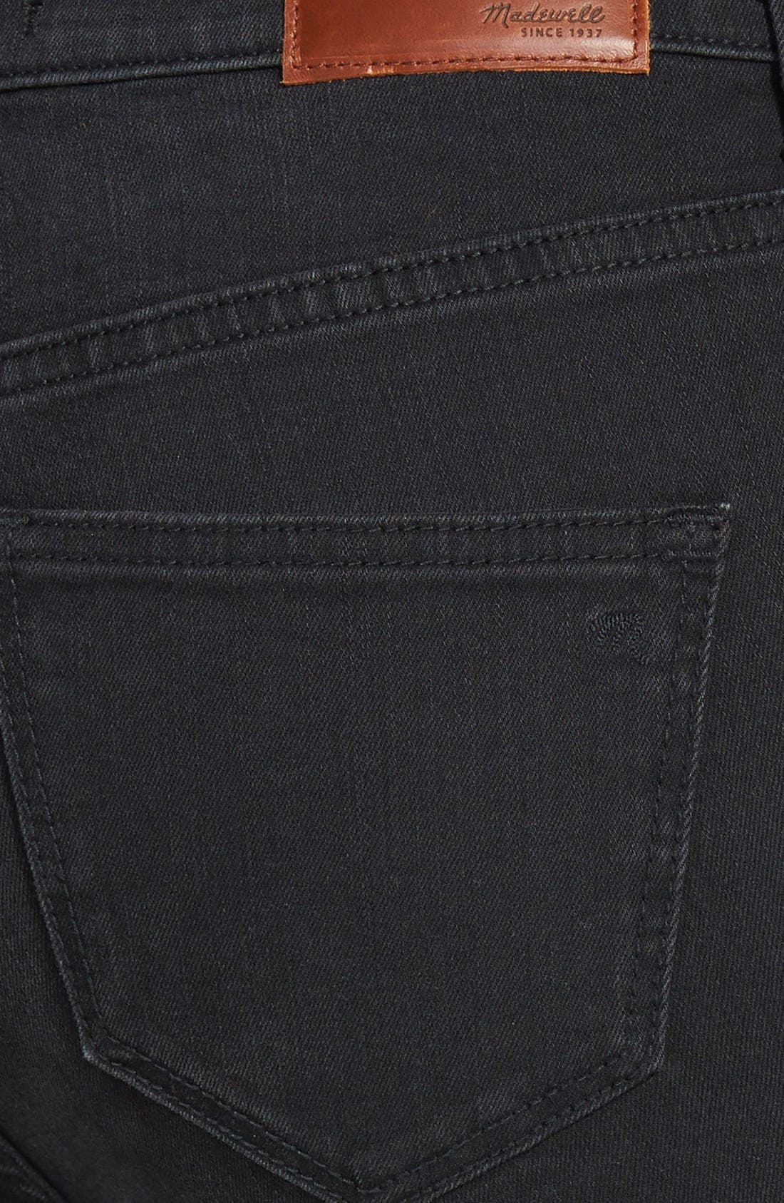 9-Inch High-Rise Skinny Jeans,                             Alternate thumbnail 7, color,                             001