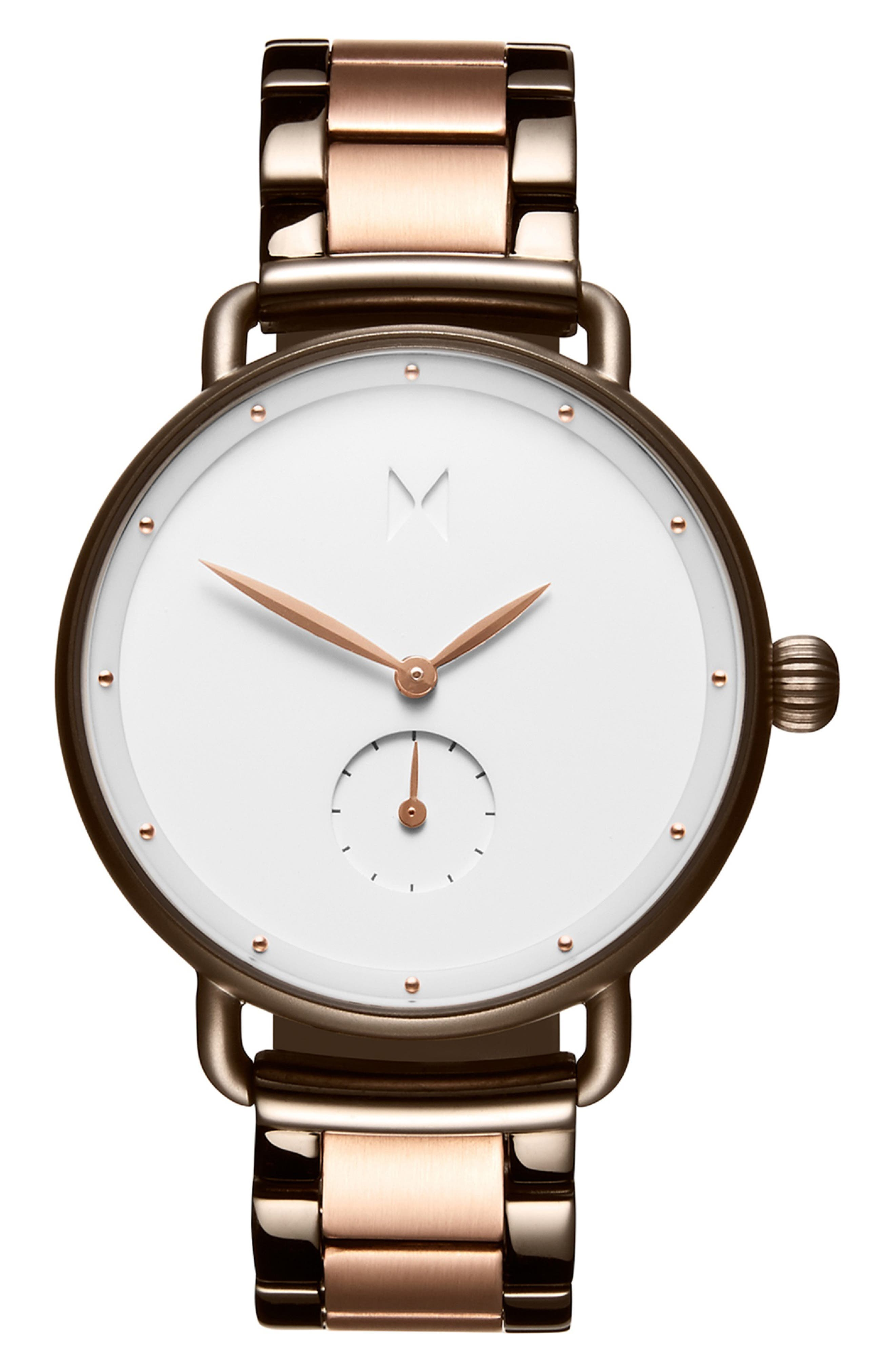 MVMT Bloom Jaded Rose Watch, 36Mm in Rose Gold/ White