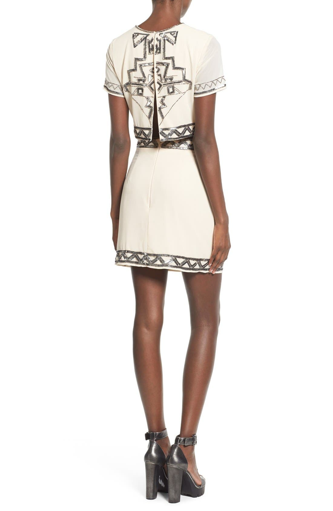 Embellished Miniskirt,                             Alternate thumbnail 3, color,                             270