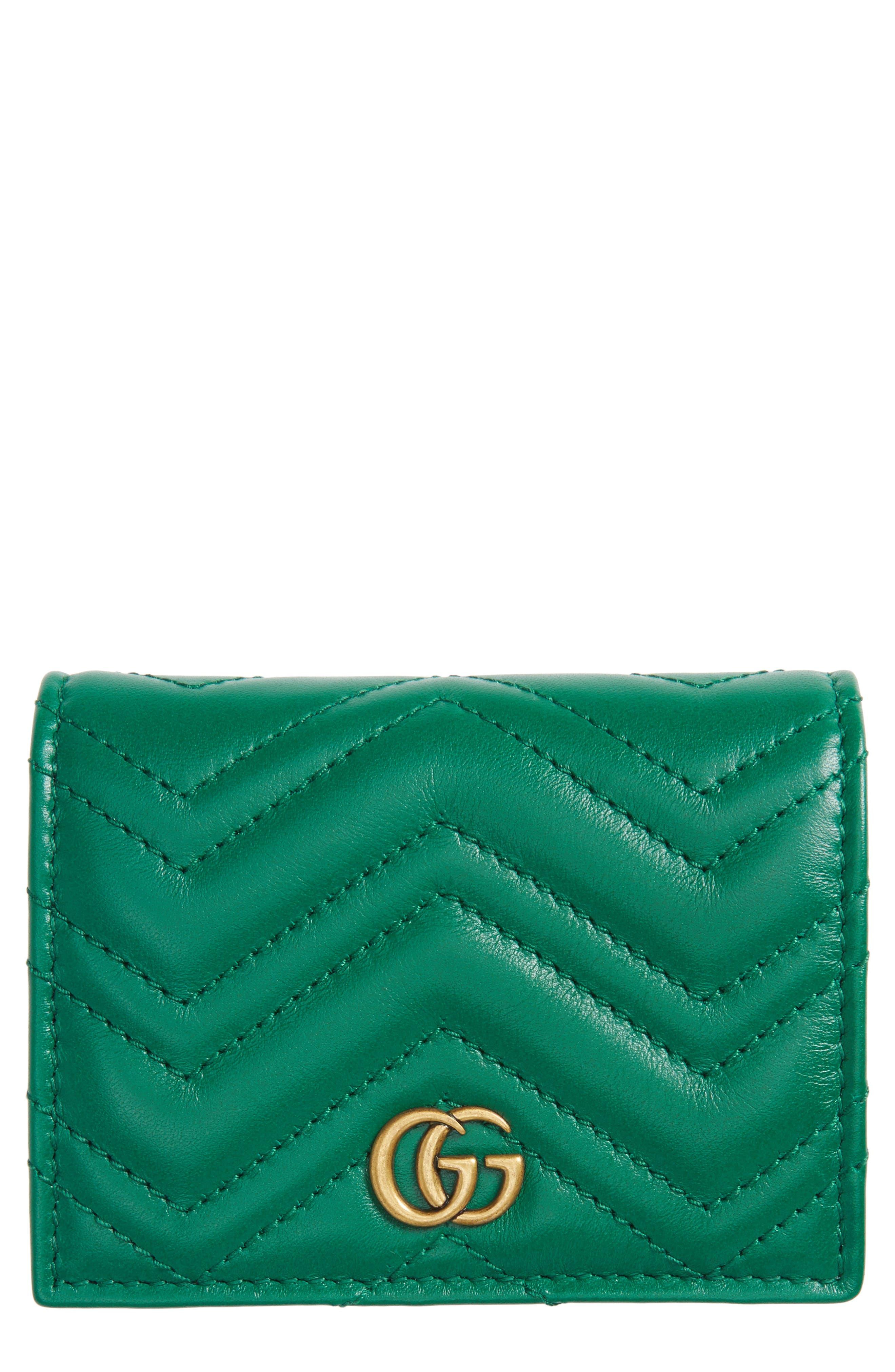 GG Marmont Matelassé Leather Card Case,                             Main thumbnail 1, color,                             302