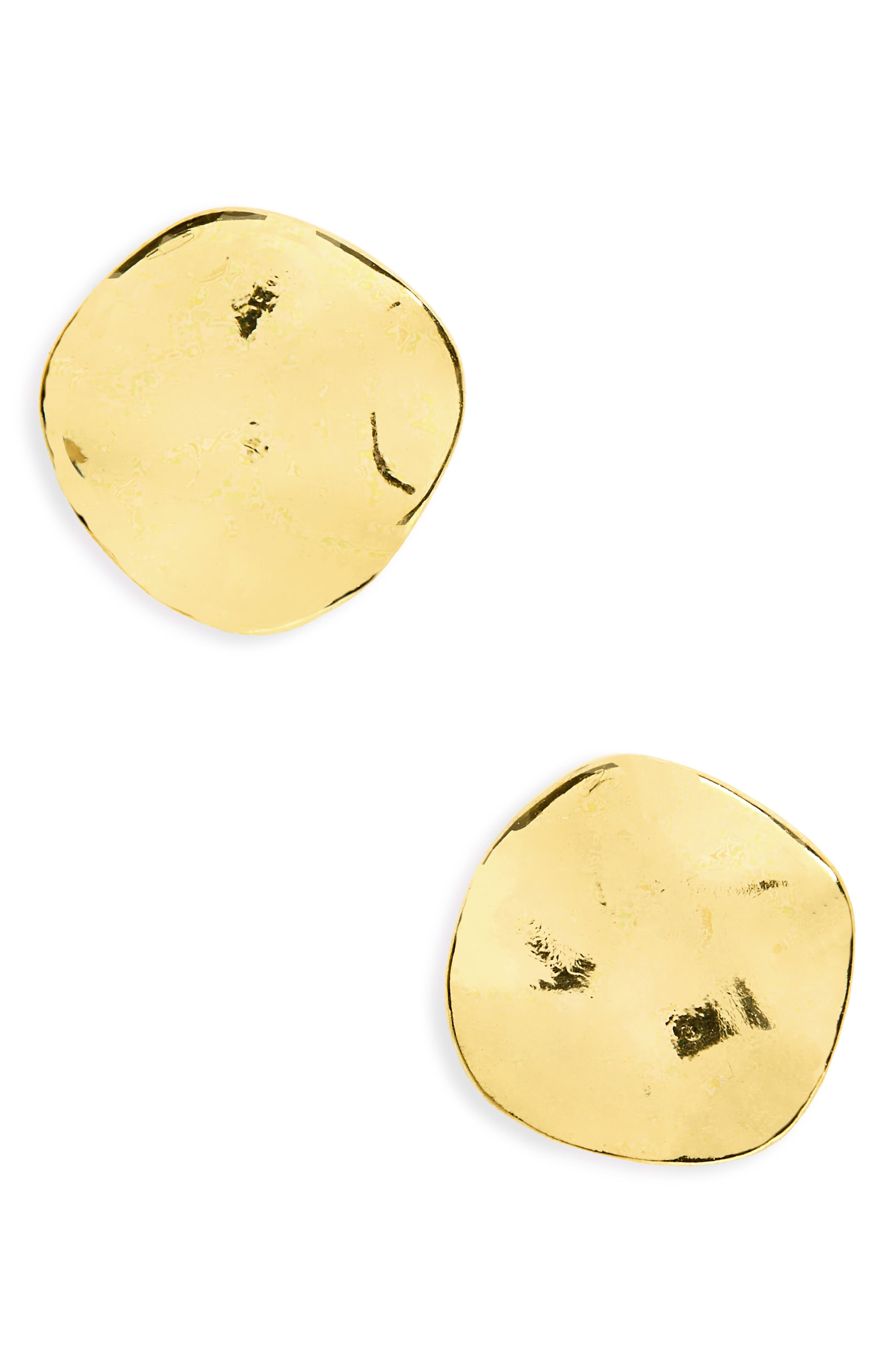 'Chloe' Small Stud Earrings,                             Main thumbnail 1, color,                             GOLD