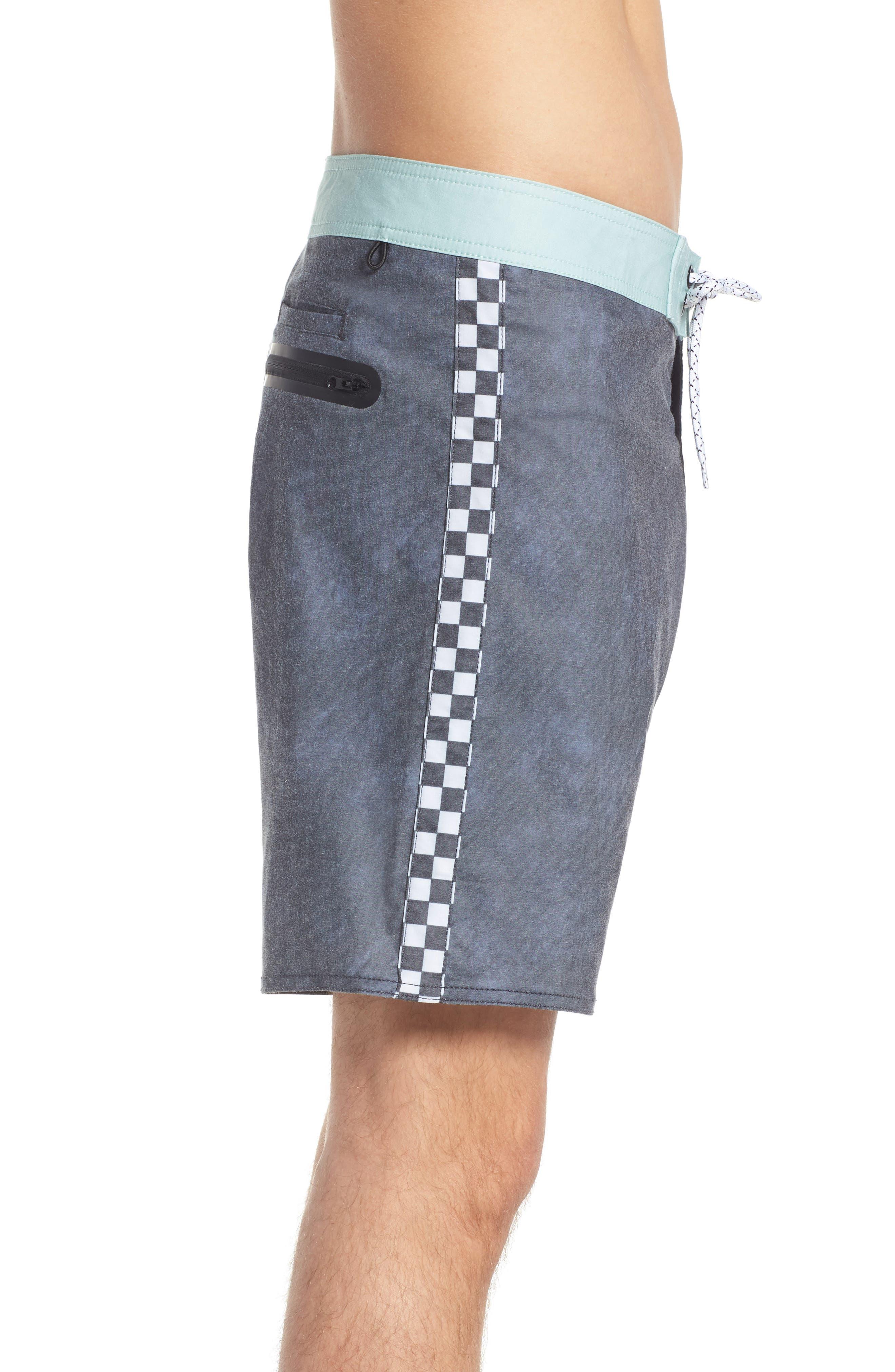 Side Check Board Shorts,                             Alternate thumbnail 3, color,                             001