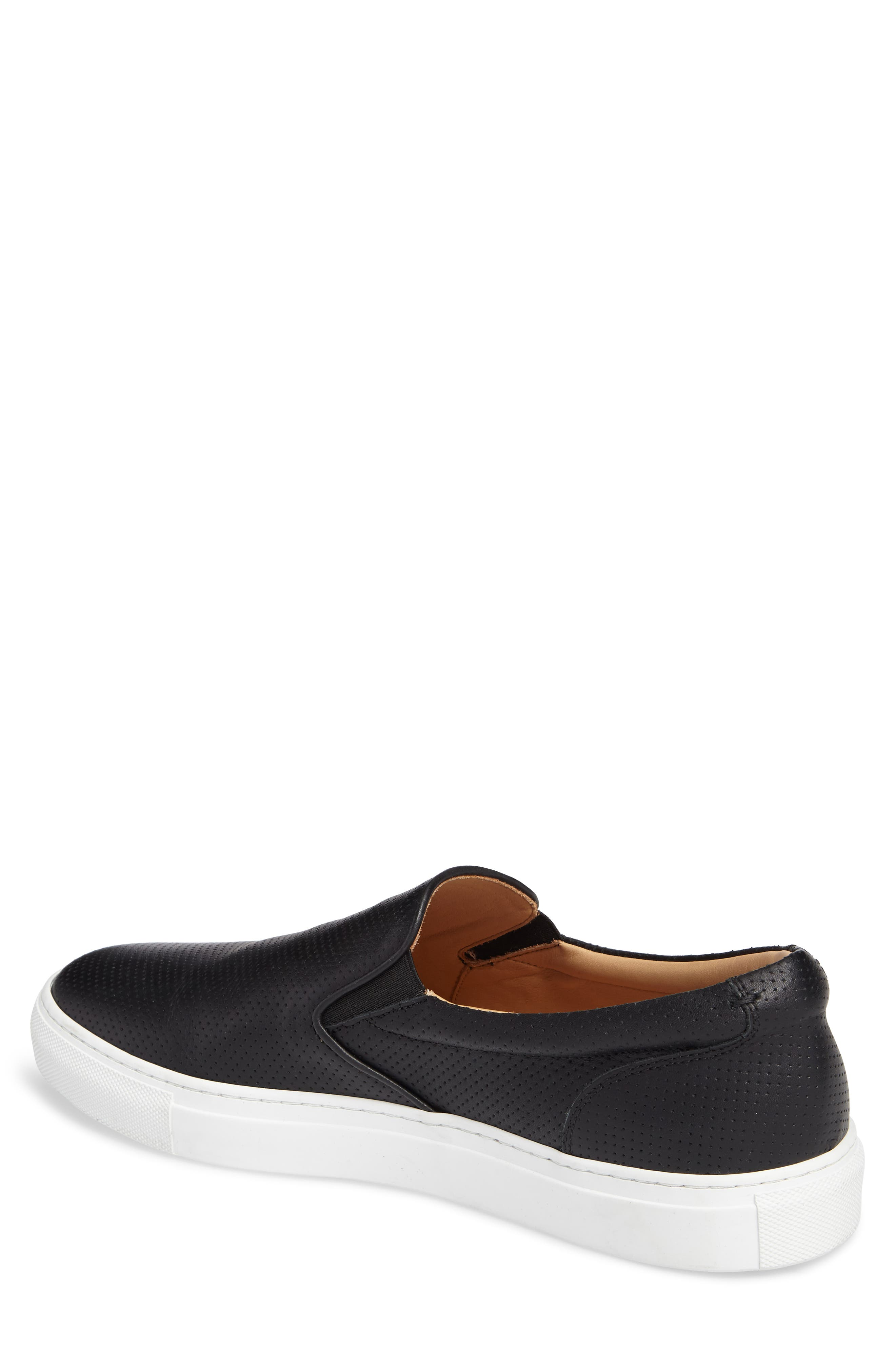 Wooster Slip-On Sneaker,                             Alternate thumbnail 2, color,                             BLACK PERFORATED LEATHER