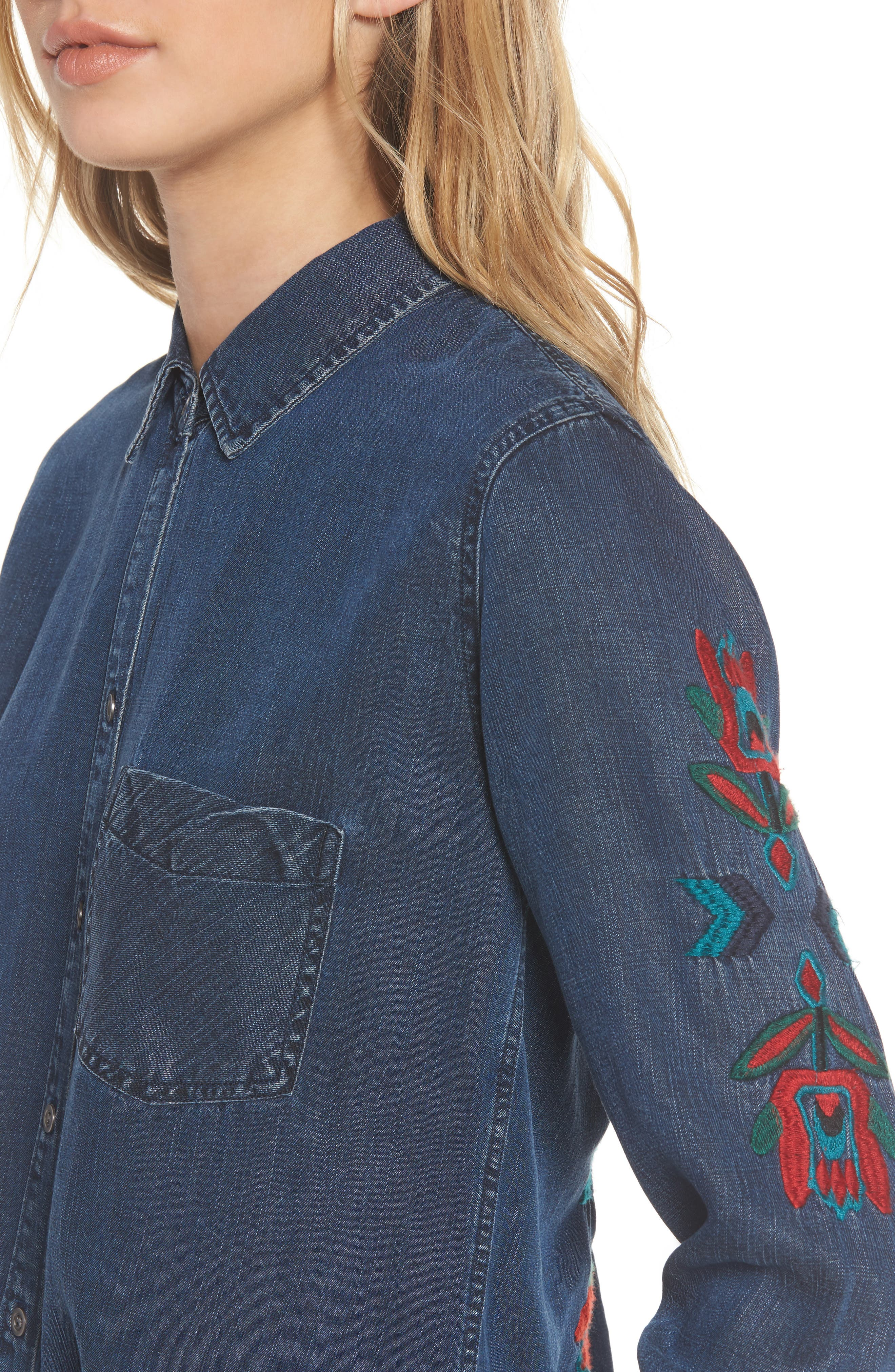 Ingrid Embroidered Shirt,                             Alternate thumbnail 4, color,                             432