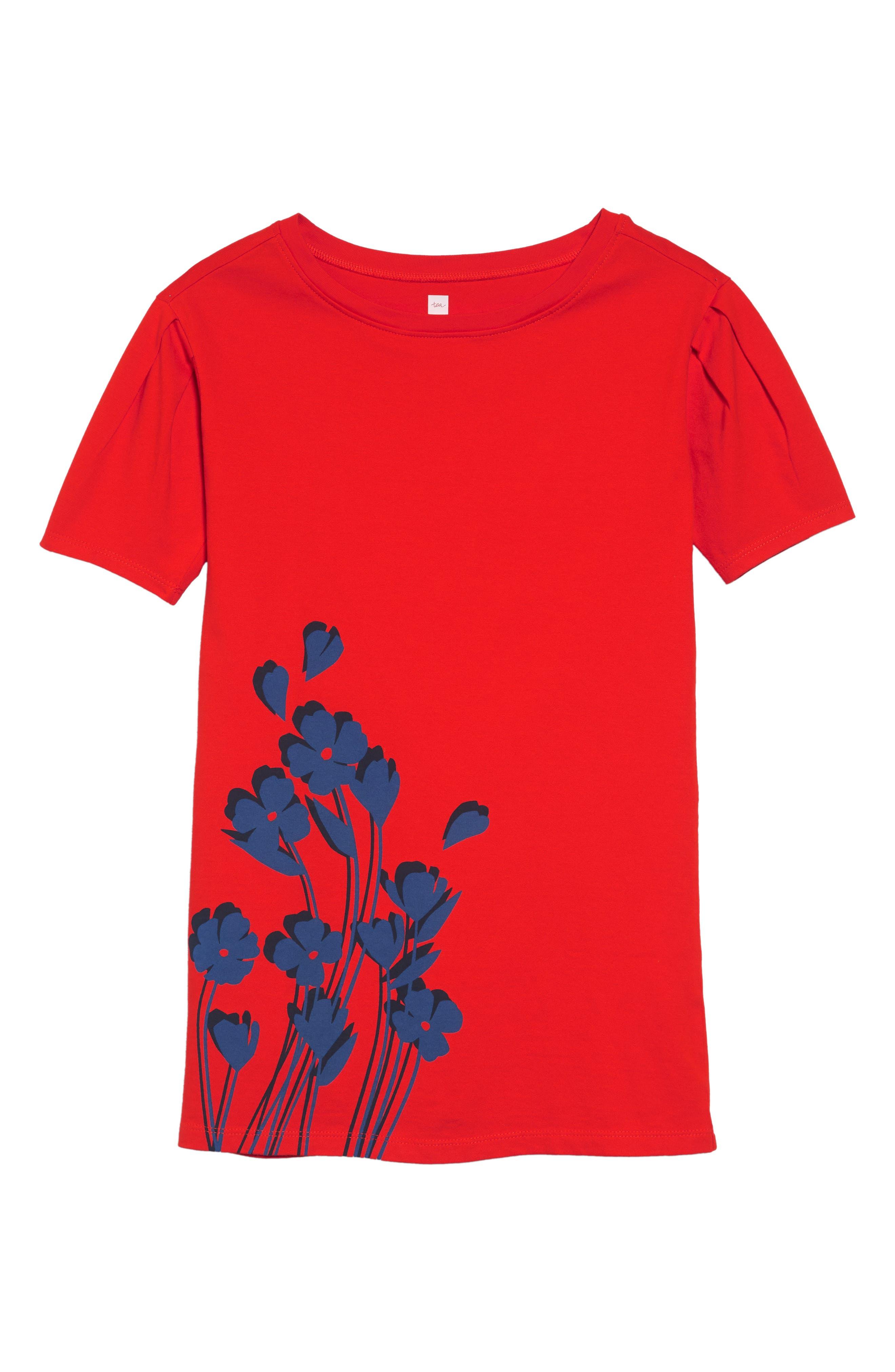 Breezy Floral Graphic Dress,                             Main thumbnail 1, color,                             600