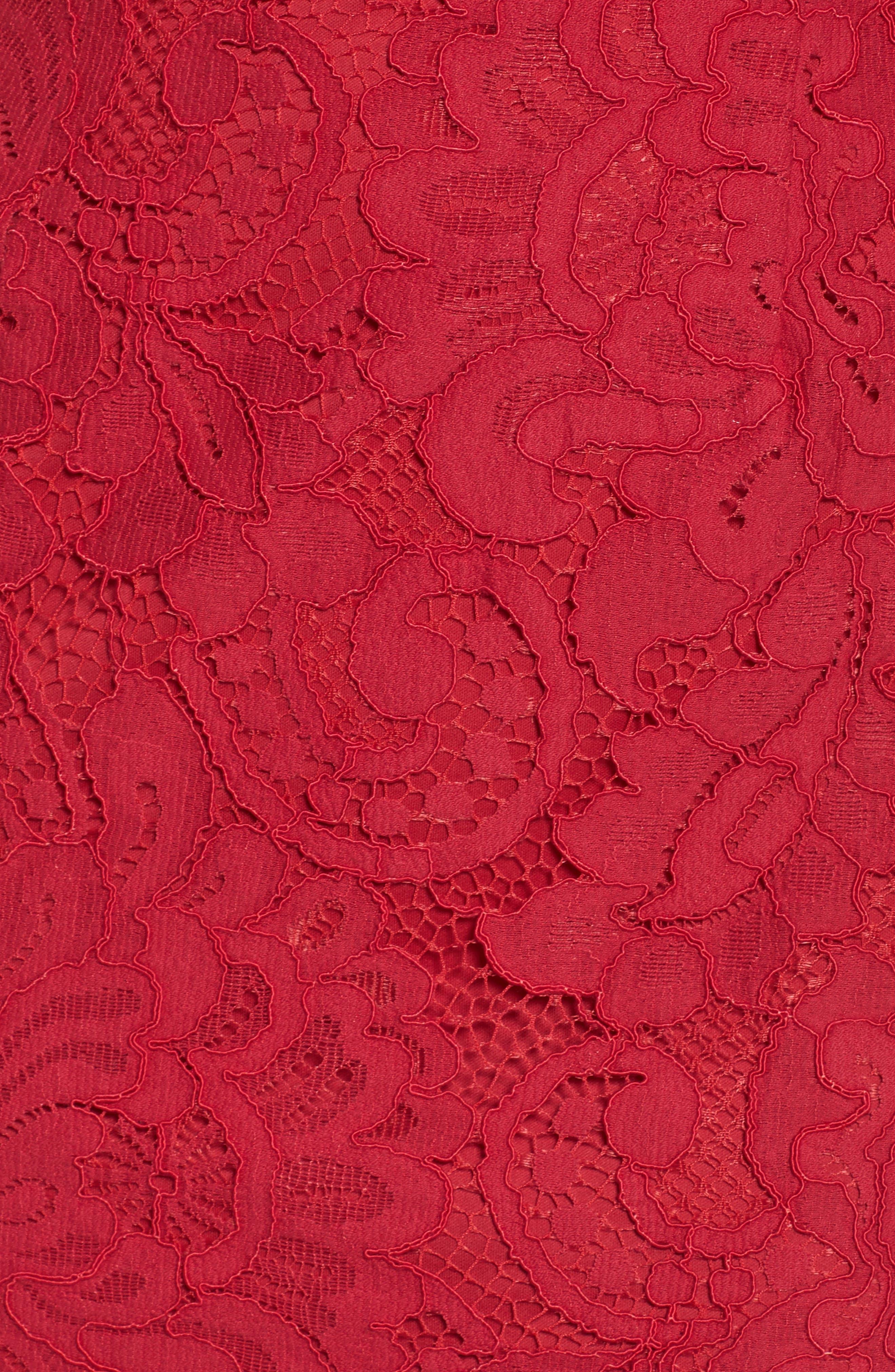 Off the Shoulder Lace Sheath Dress,                             Alternate thumbnail 6, color,                             620
